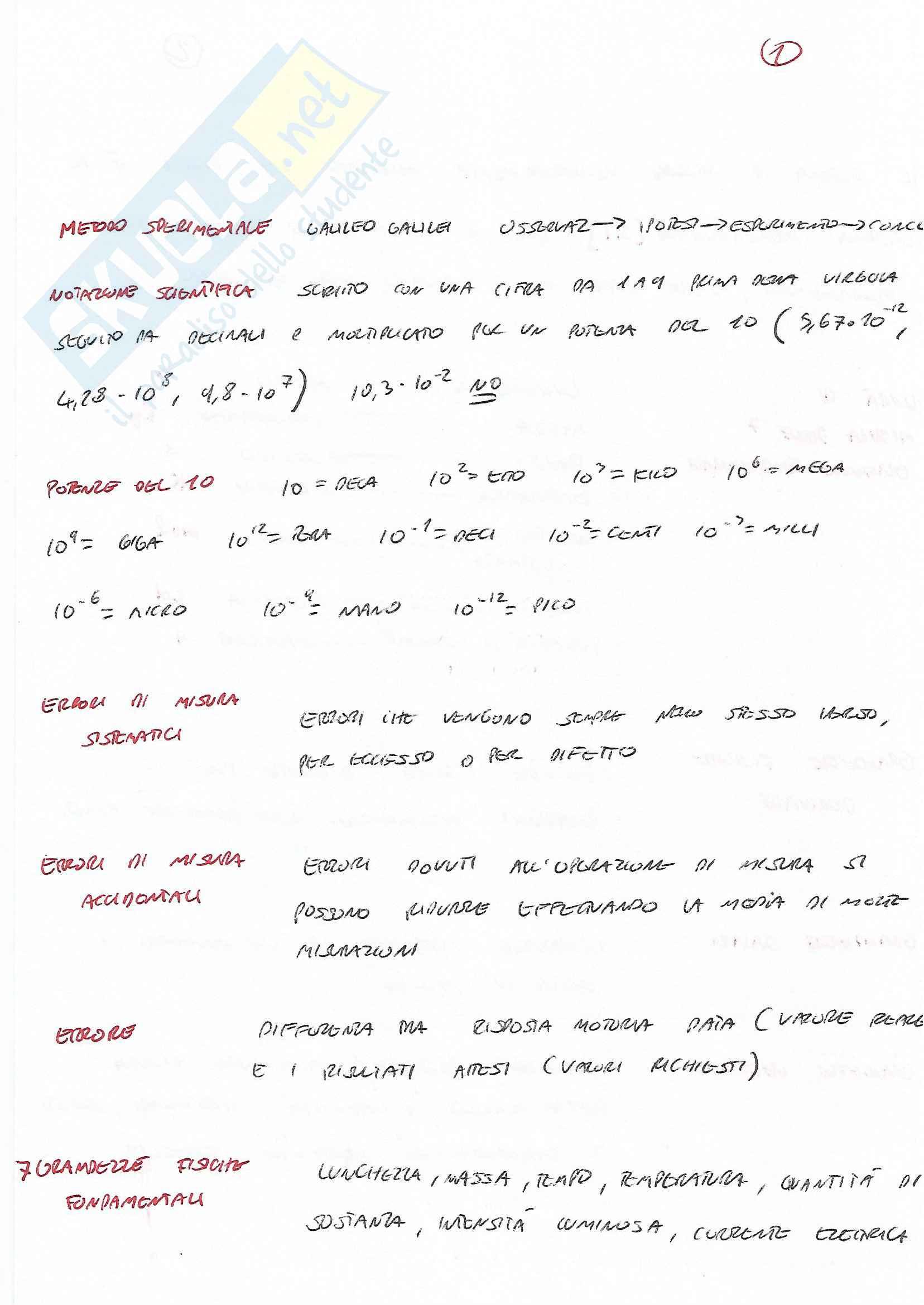 Parte di fisica di Basi delle attività motorie Pag. 1