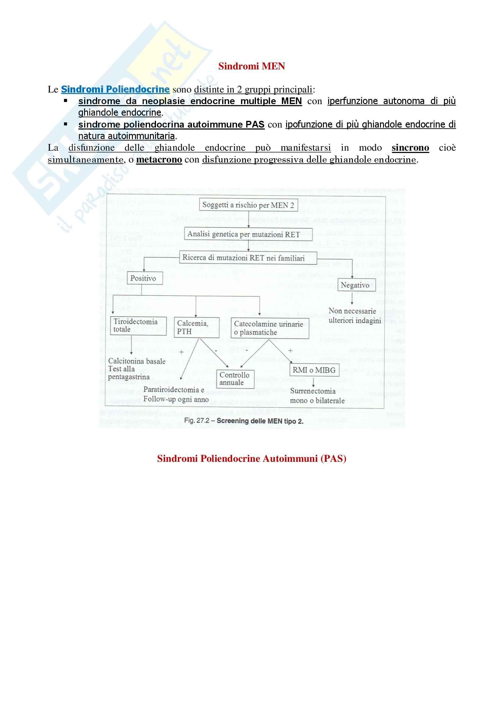 Endocrinologia - Sindrome di MEN
