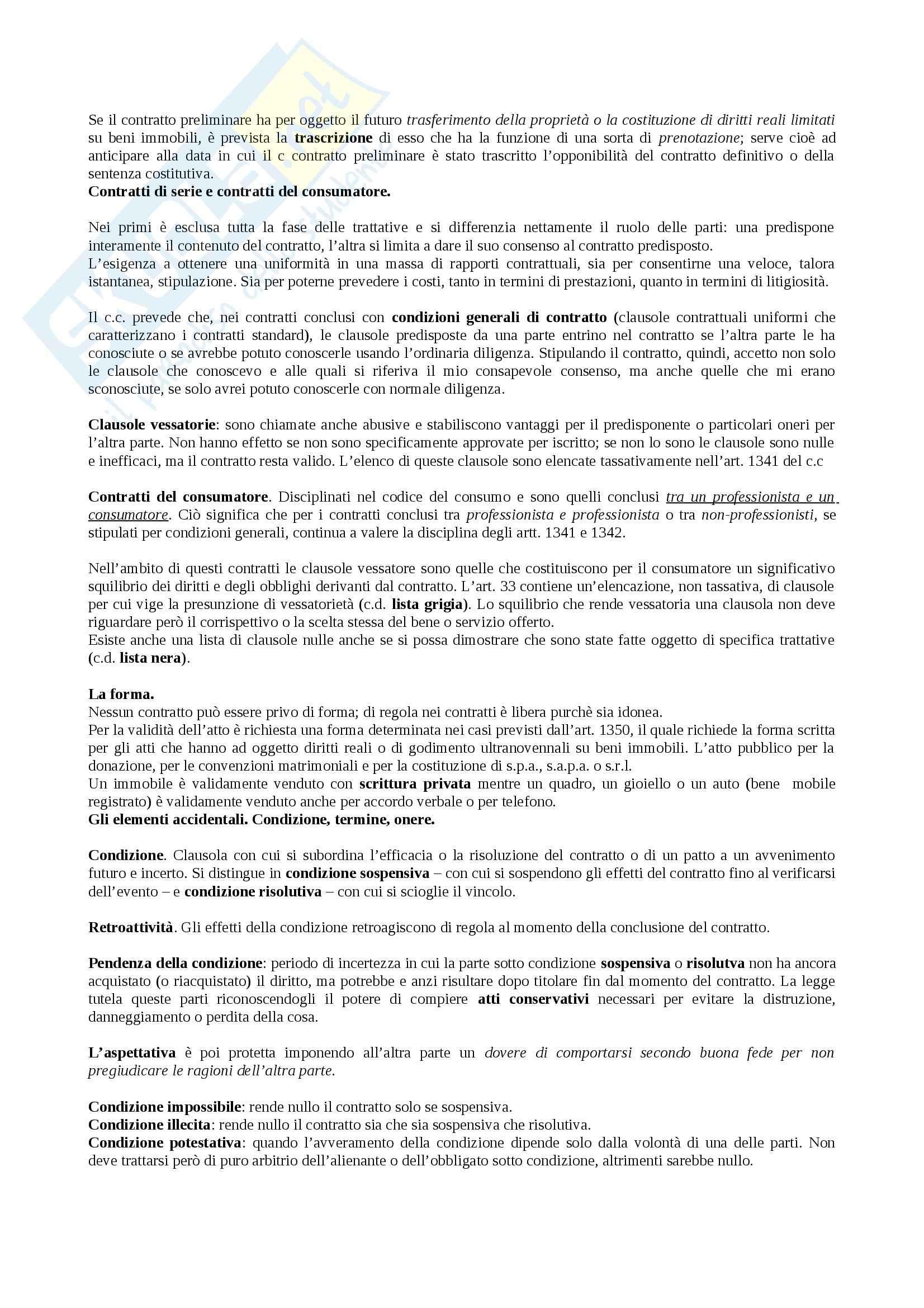 Riassunto esame Diritto, prof. Bregoli, libro consigliato Diritto Privato, Zatti Pag. 21
