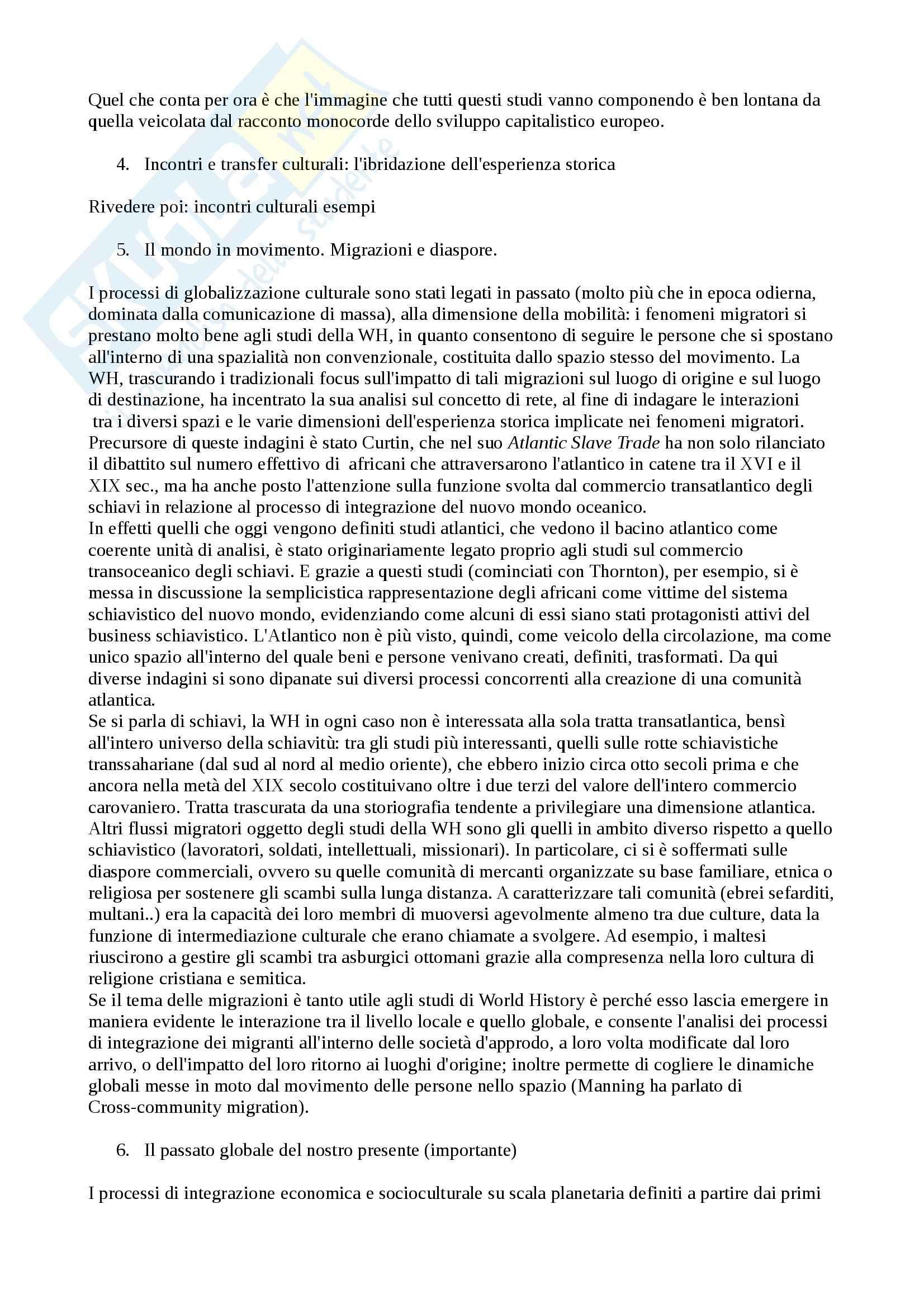 Riassunto esame world history, prof. Capuzzo, libro consigliato World history, Meriggi, Di Fiore Pag. 6