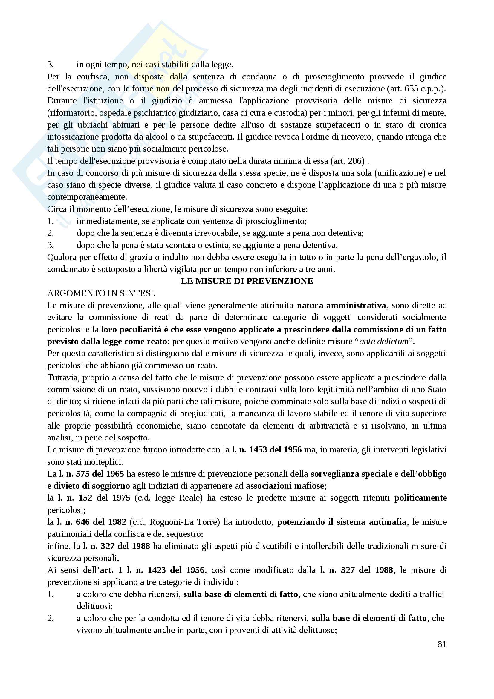 Diritto Penale I parte speciale Pag. 61