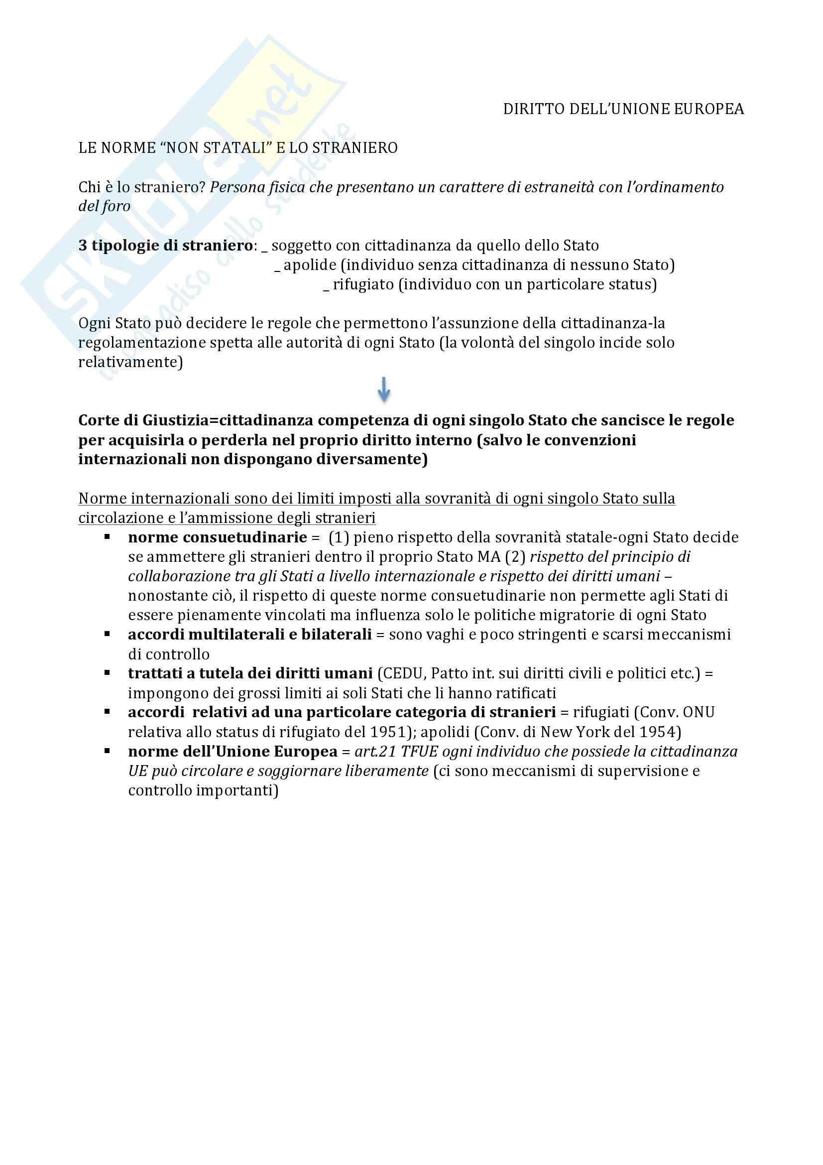 Riassunto esame diritto, prof Gestri, libro consigliato Immigrazione, diritto e diritti: profili internazionalistici ed europei, Gestri
