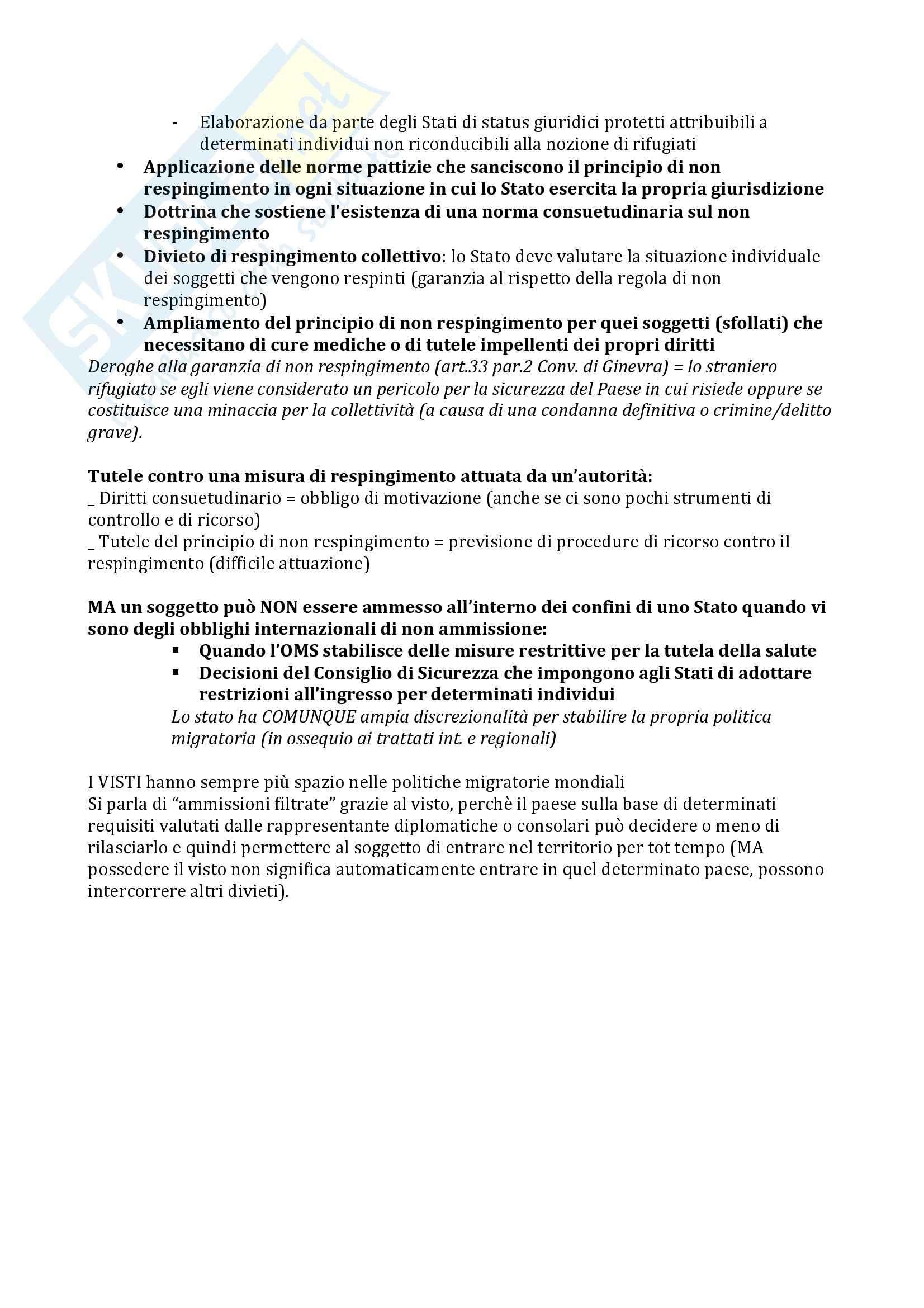 Riassunto esame diritto, prof Gestri, libro consigliato Immigrazione, diritto e diritti: profili internazionalistici ed europei, Gestri Pag. 6