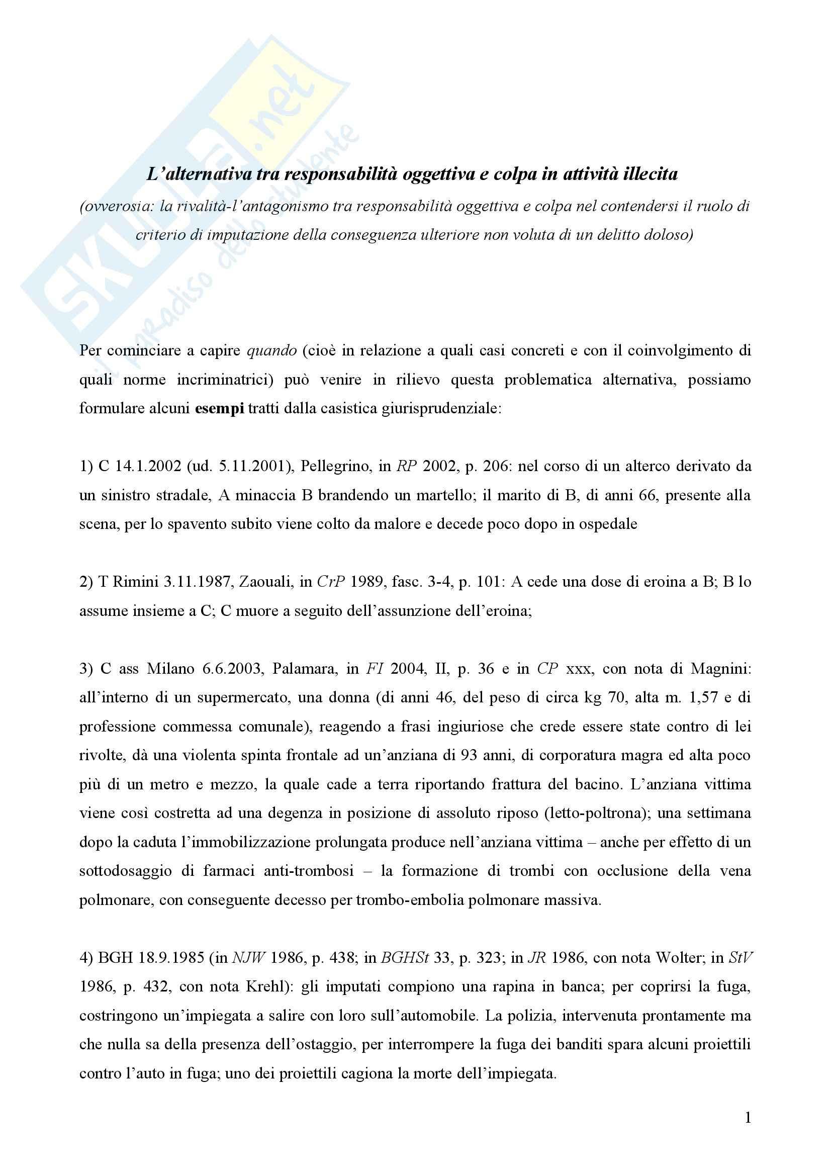 Diritto penale - Sentenza 364 della Corte Costituzionale