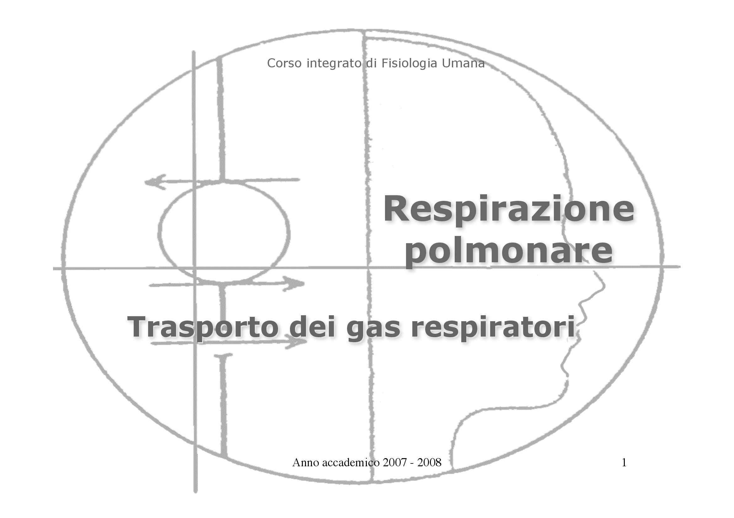 Fisiologia I - trasporto dei gas respiratori