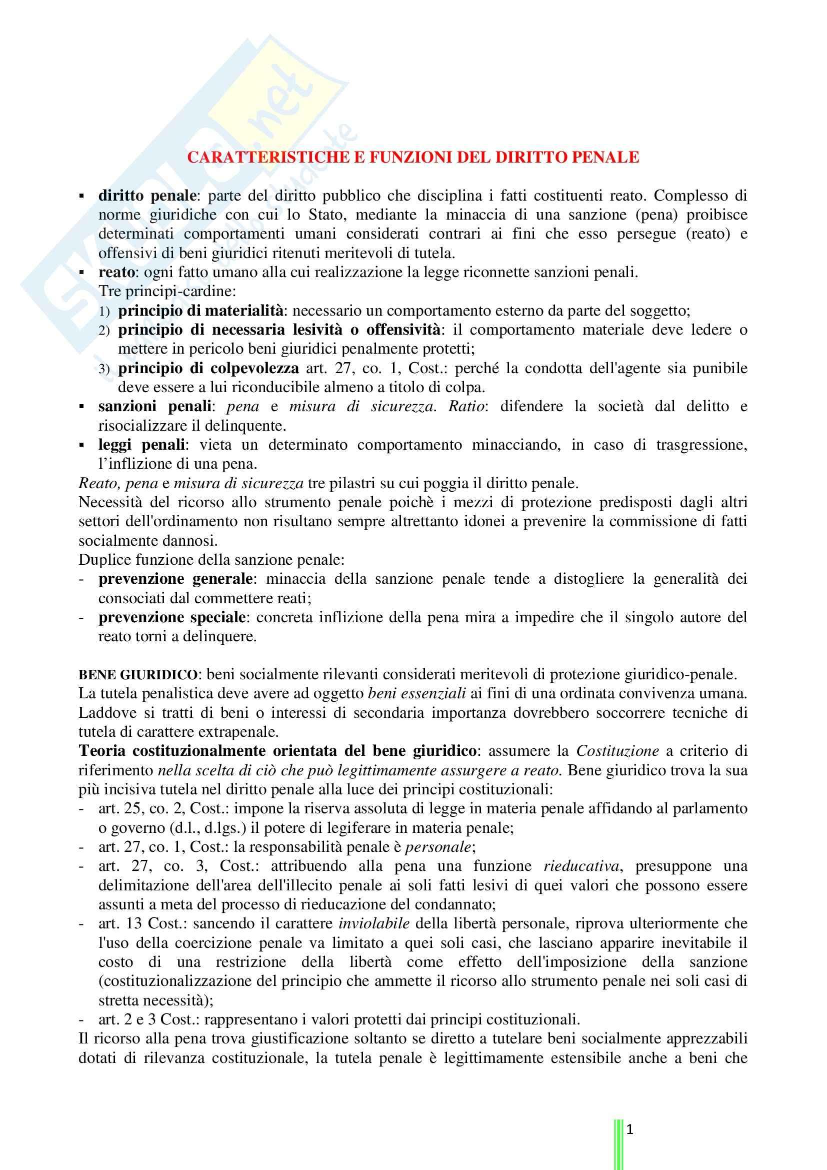 Riassunto esame Diritto Penale, prof. Stortoni, libro consigliato Diritto Penale: Parte Generale di Fiandaca e Musco