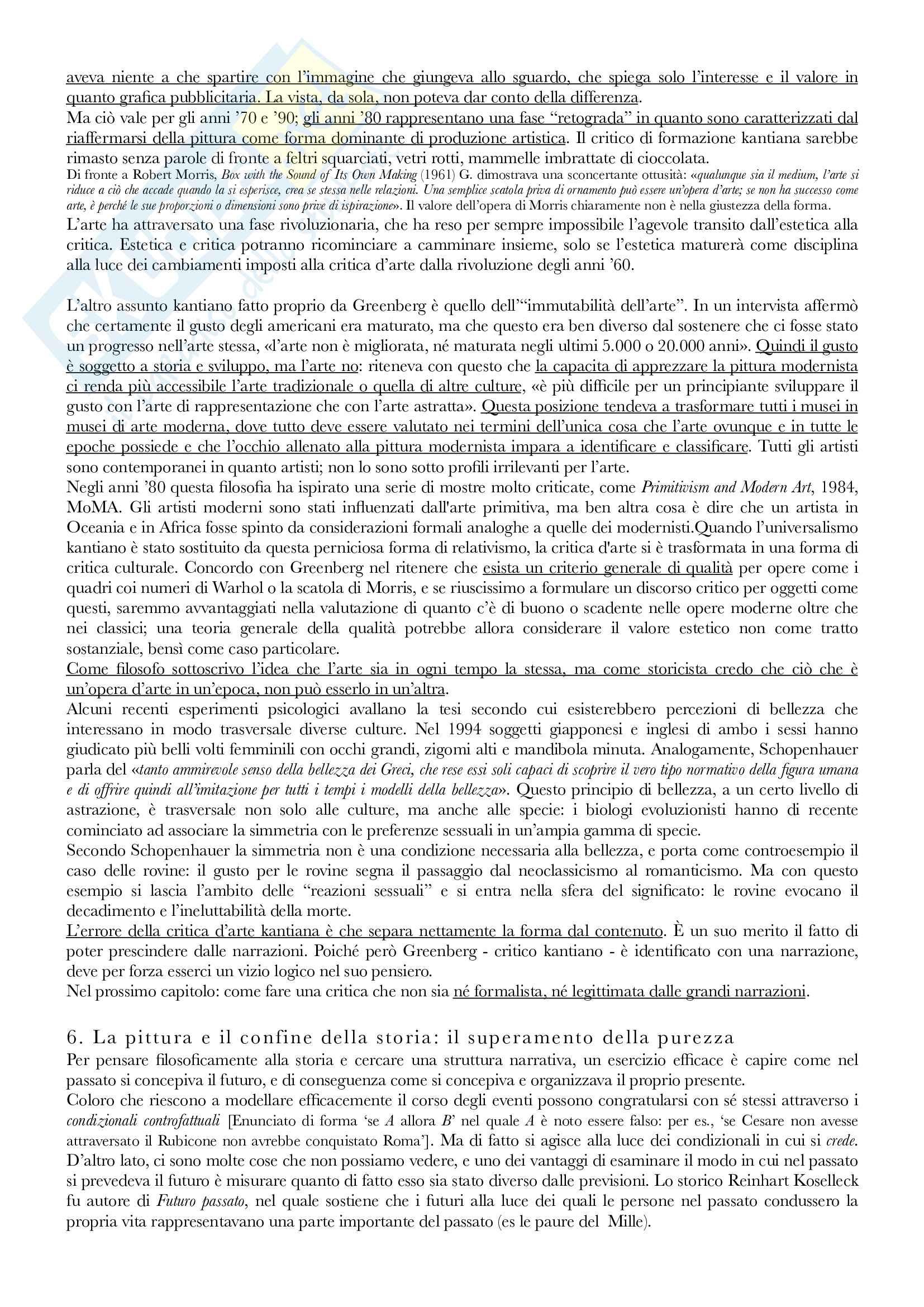 Riassunto esame Avanguardie storiche e neoavanguardie, prof. Evangelisti, libro consigliato Dopo la fine dell'arte, Danto Pag. 11