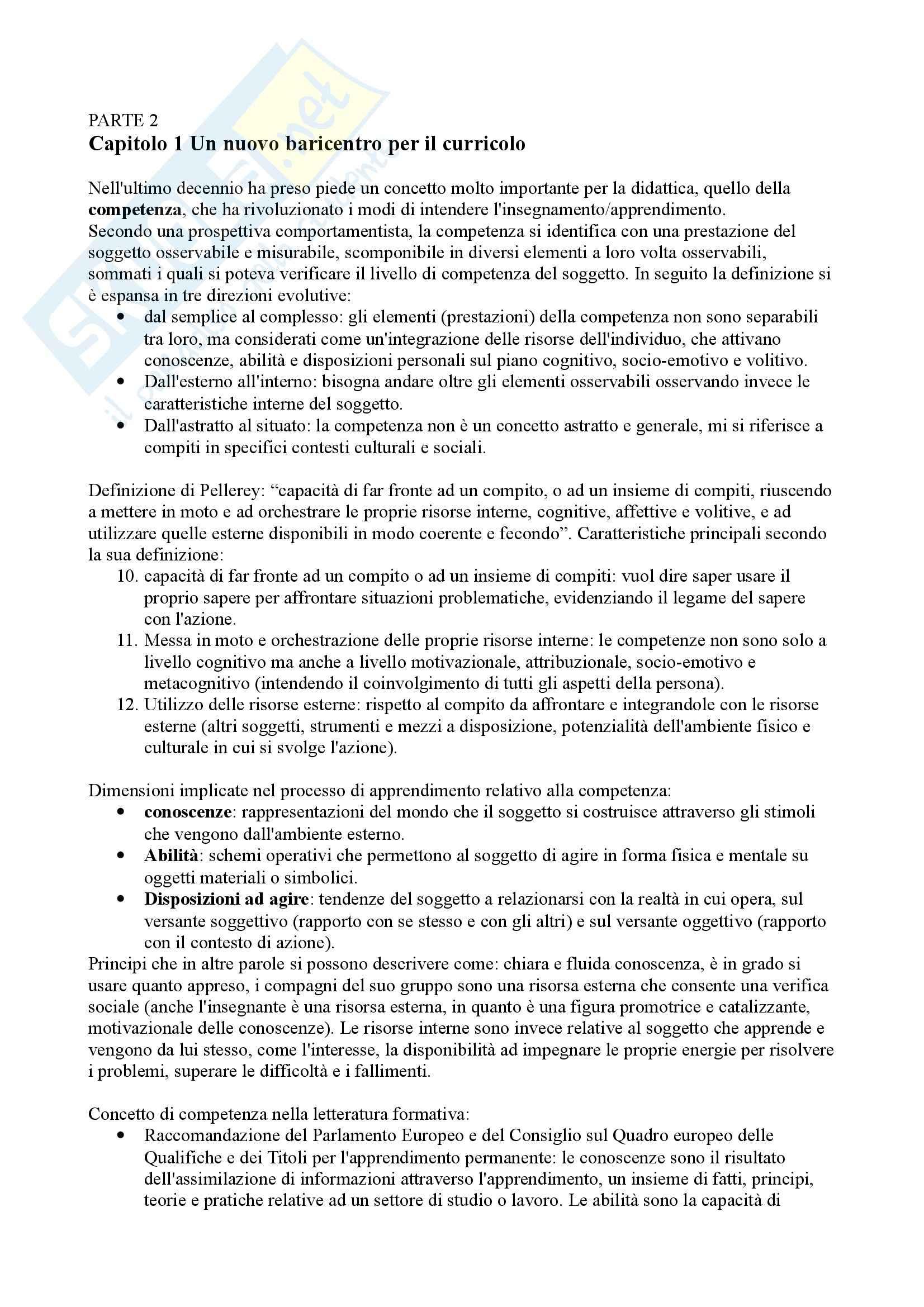 Riassunto esame Didattica generale, prof. Calvani, libro consigliato Didattica generale, Castoldi Pag. 21