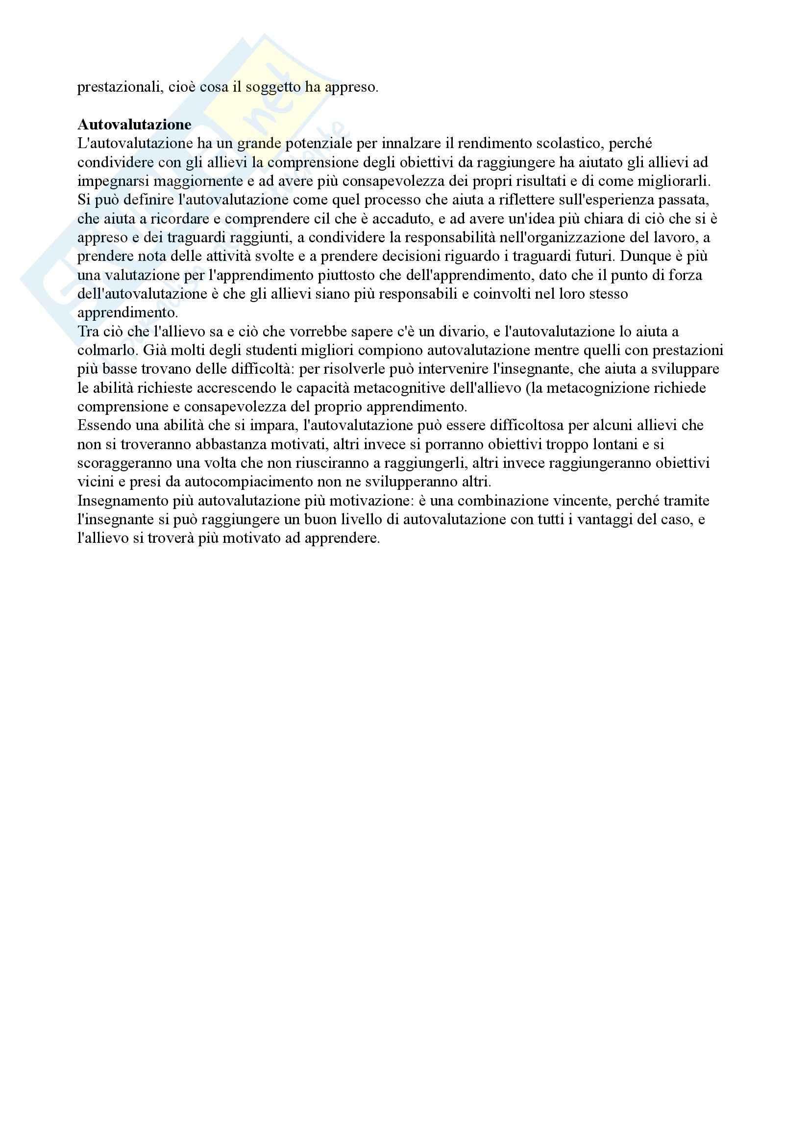 Riassunto esame Didattica generale, prof. Calvani, libro consigliato Didattica generale, Castoldi Pag. 31
