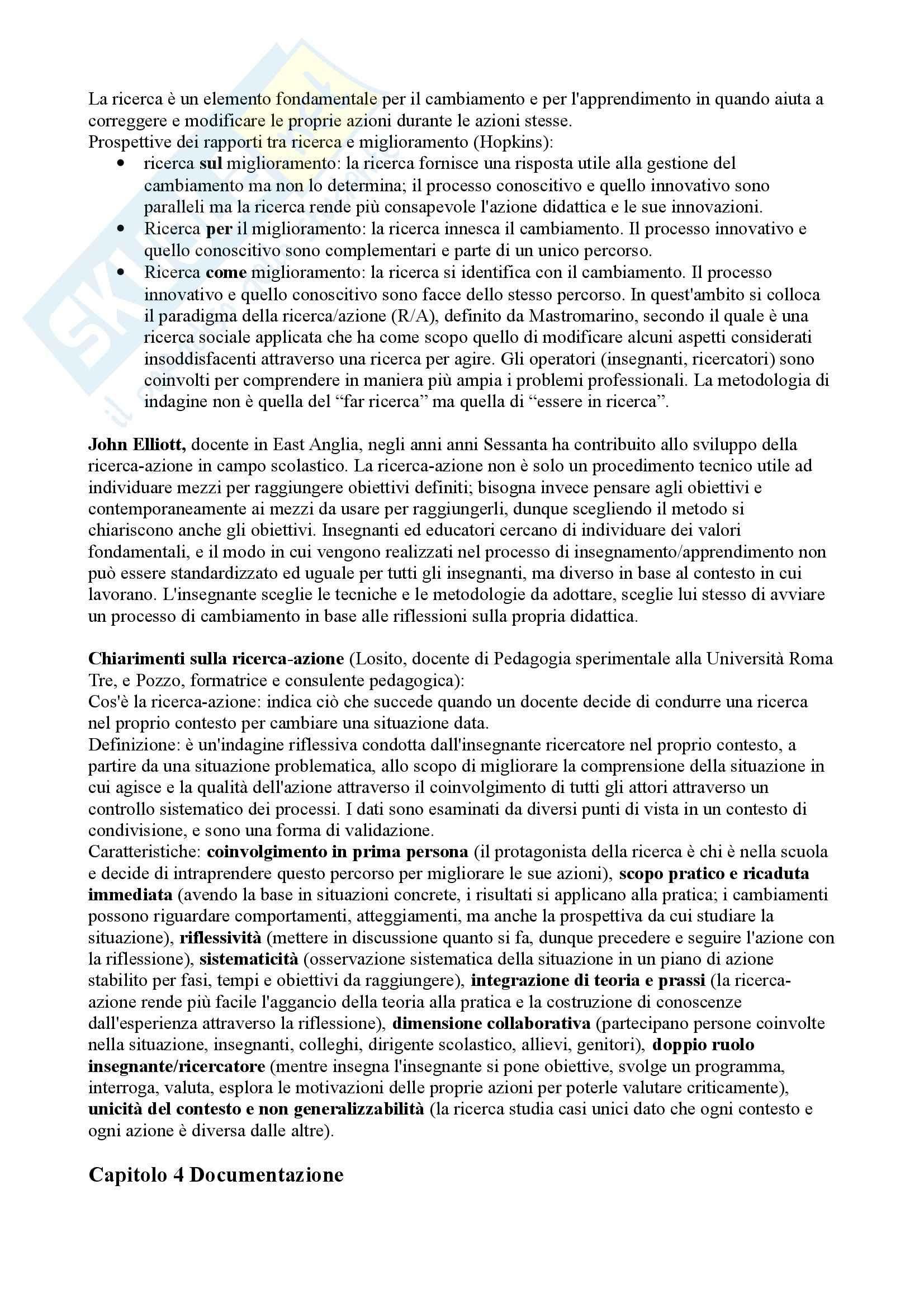 Riassunto esame Didattica generale, prof. Calvani, libro consigliato Didattica generale, Castoldi Pag. 6