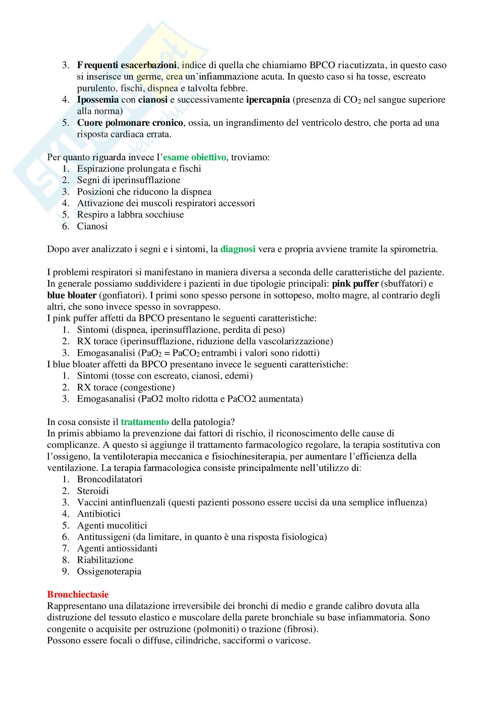 Medicina Interna (Patologie Apparato Cardiovascolare e Respiratorio) - Appunti Completi Pag. 31