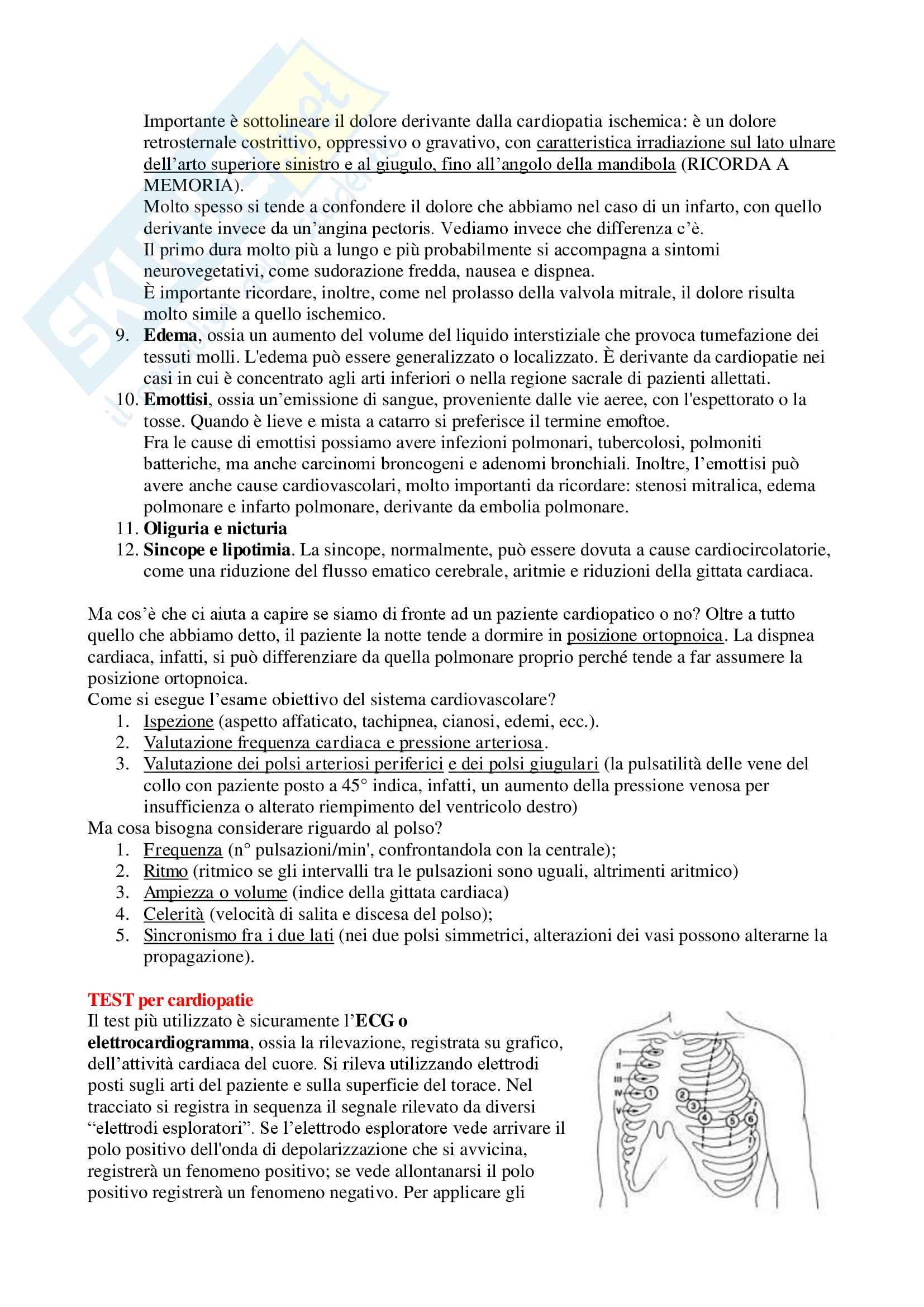 Medicina Interna (Patologie Apparato Cardiovascolare e Respiratorio) - Appunti Completi Pag. 6