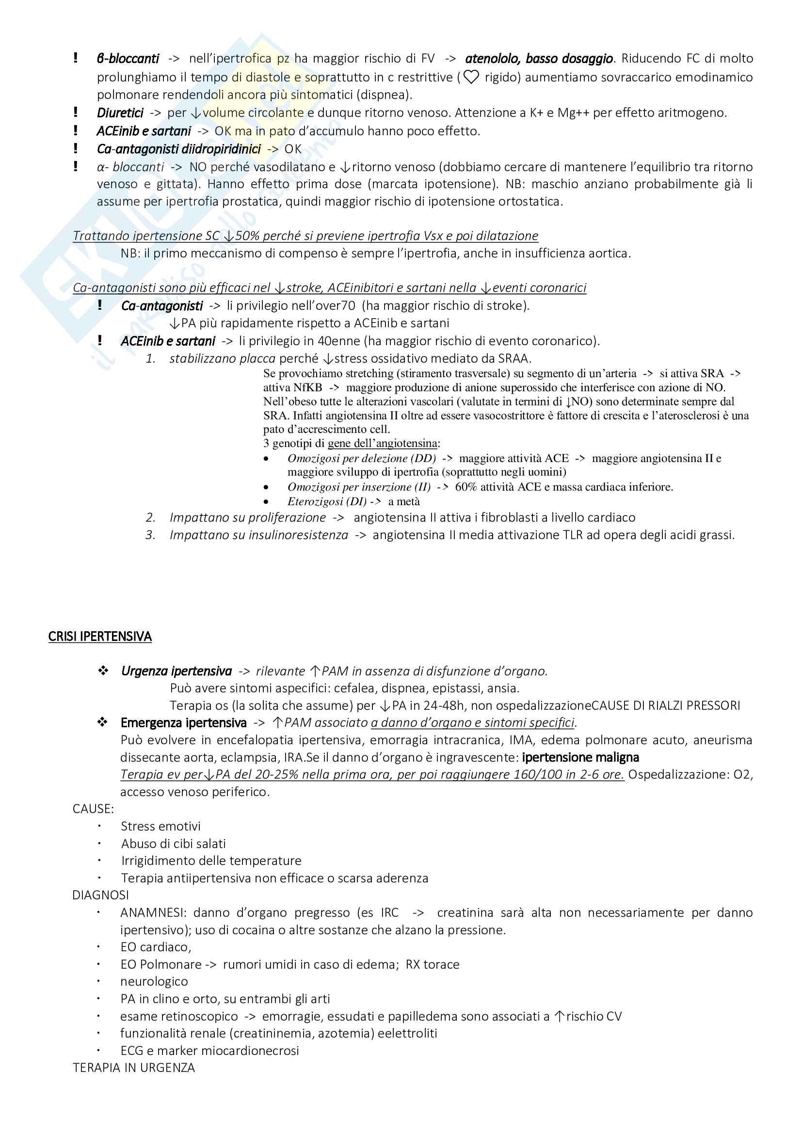 medicina interna, prof Perticone, Sciacqua, parte cardiologica Pag. 26