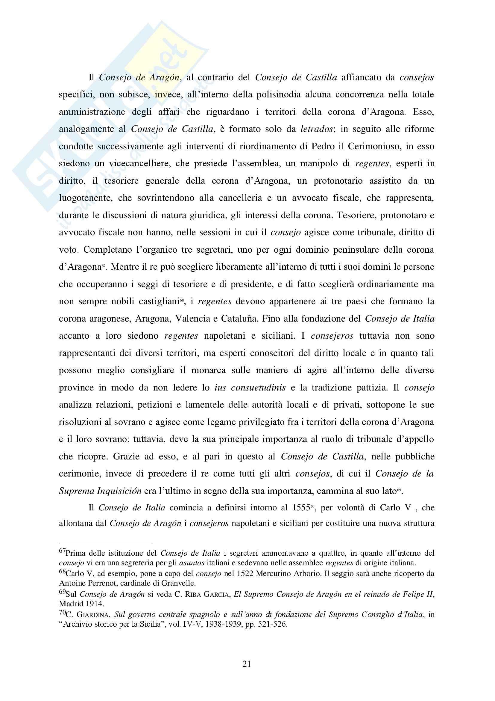 Storia delle Istituzioni politiche  e sociali - il trono di Napoli Pag. 21