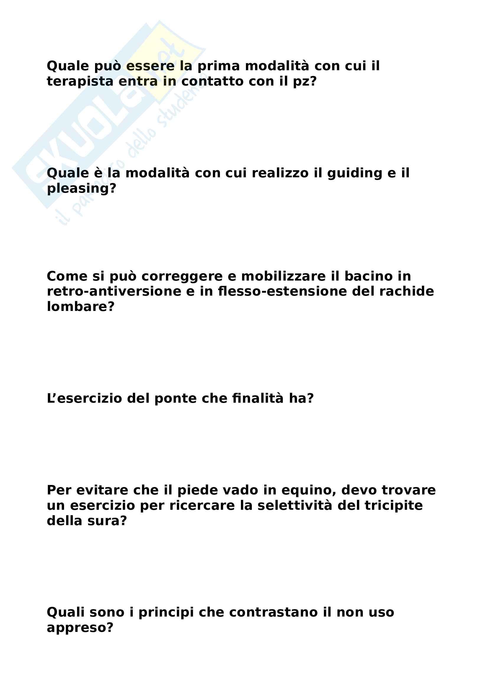 Domande affrontate a lezione Prof. Rasimelli