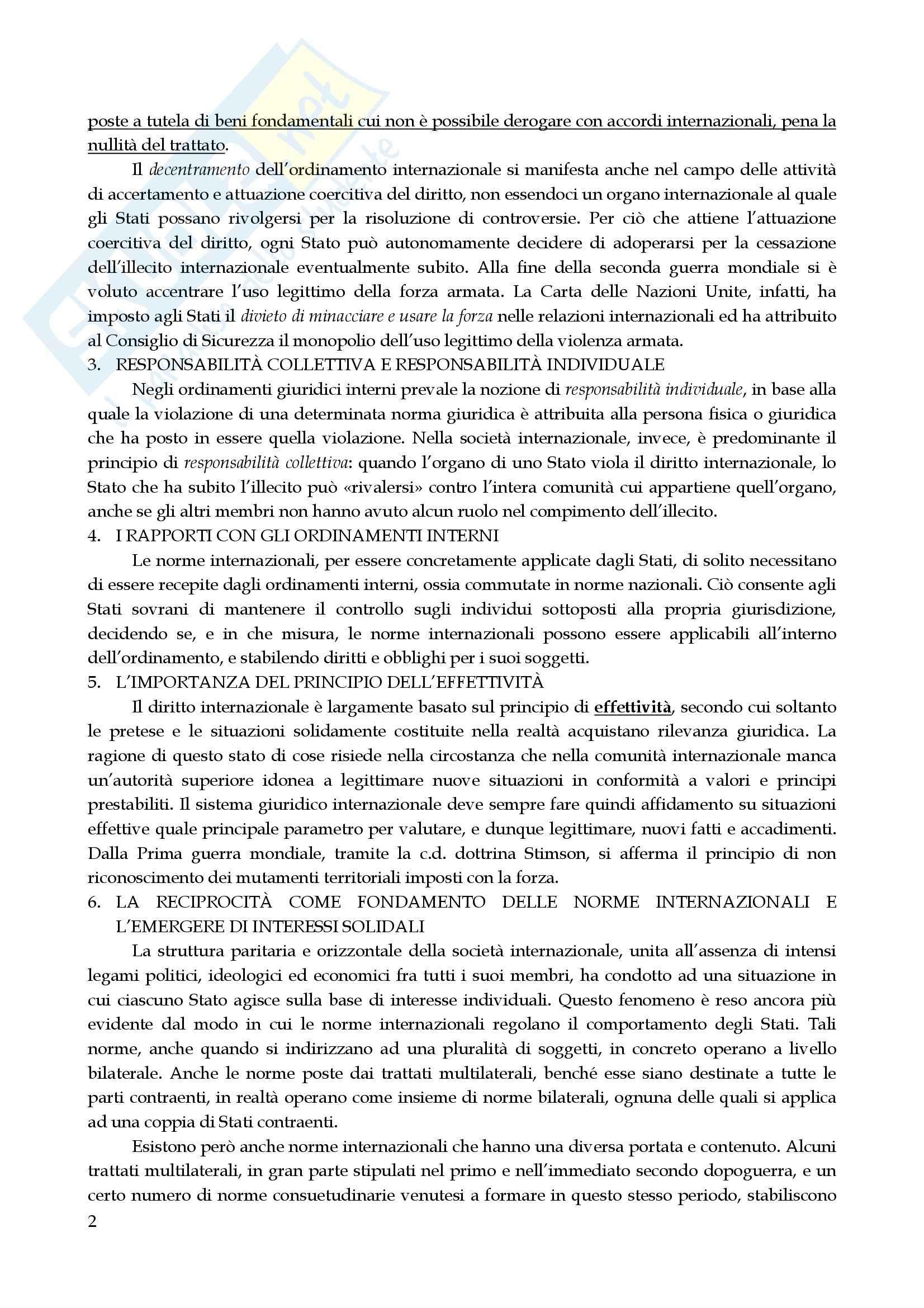Riassunto esame Diritto Internazionale, prof. Marchisio, libro consigliato Diritto Internazionale di Cassese Pag. 2