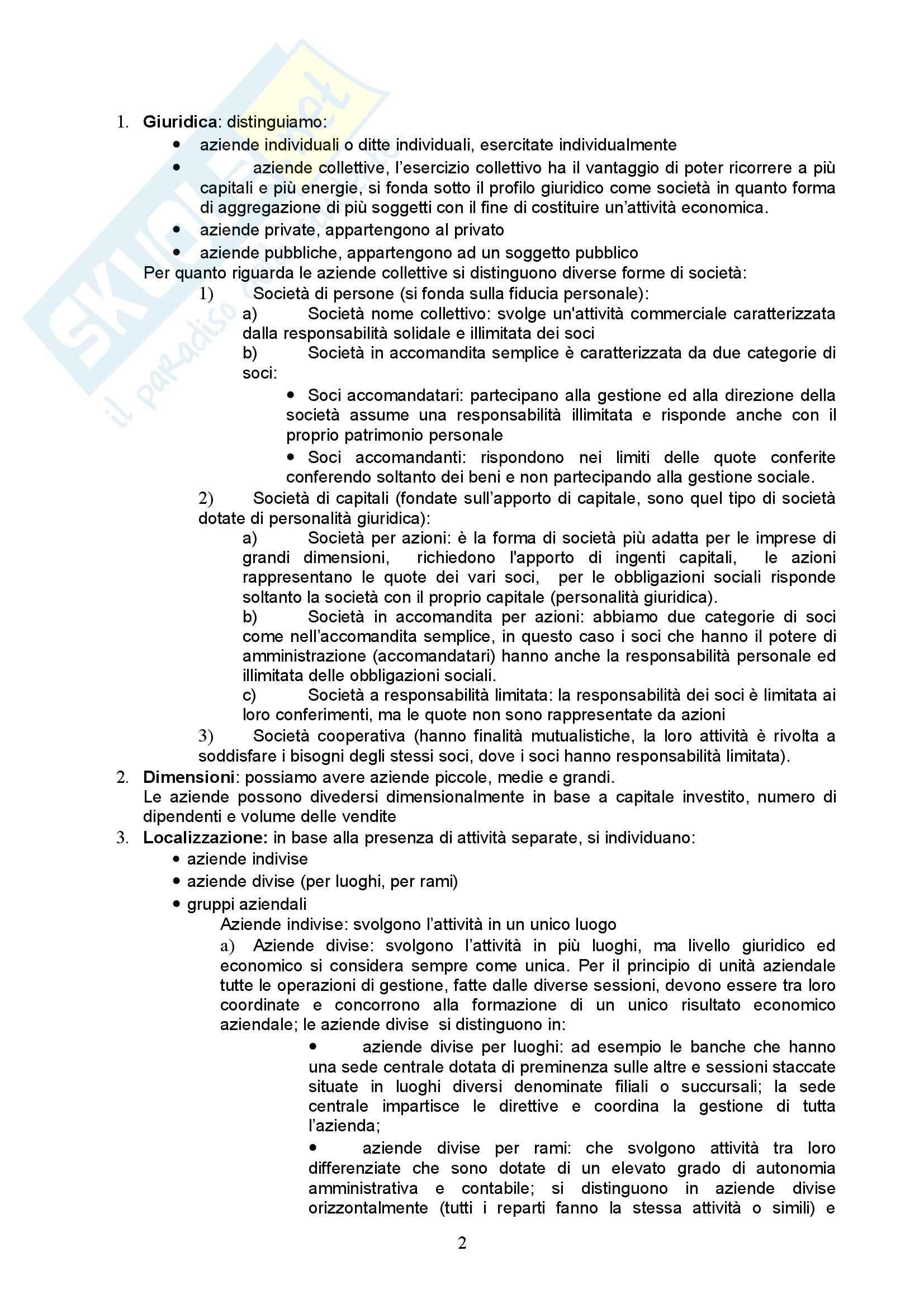 Riassunto esame Economia Aziendale, prof. Vergara, libro consigliato Esistenza e lo Sviluppo dell'Azienda, Puglisi Pag. 2