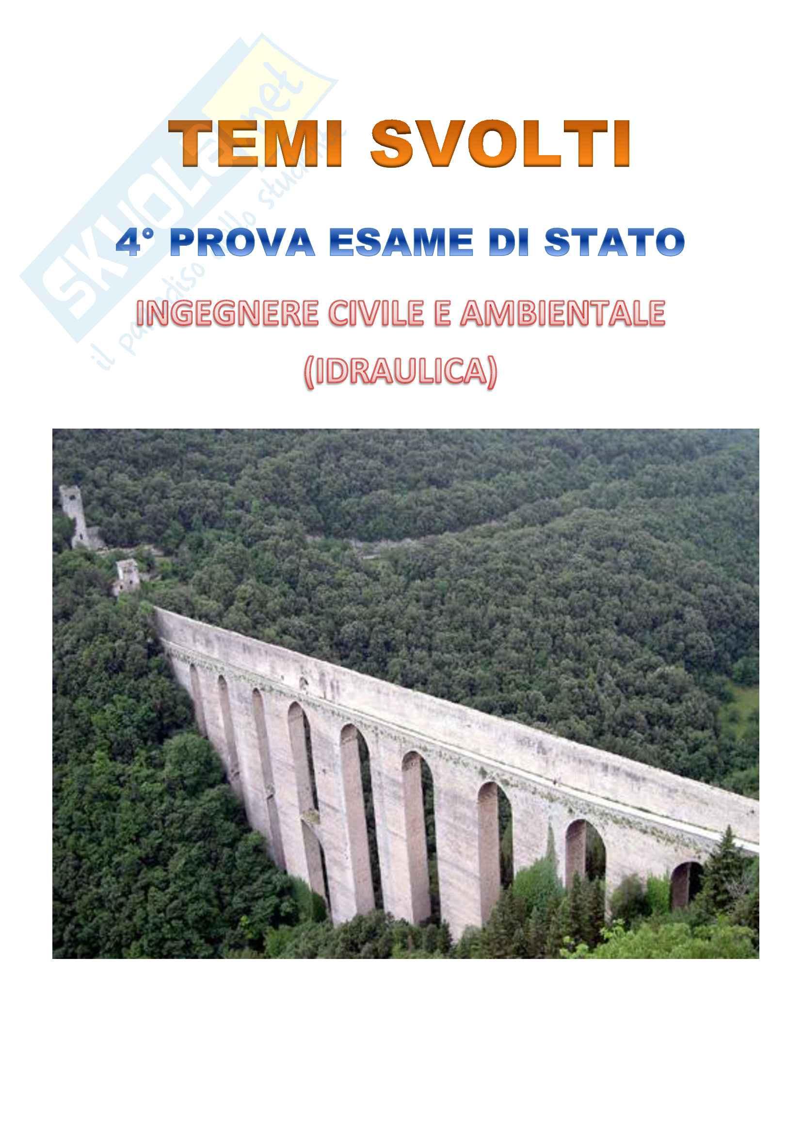 Esame di stato - IV prova idraulica