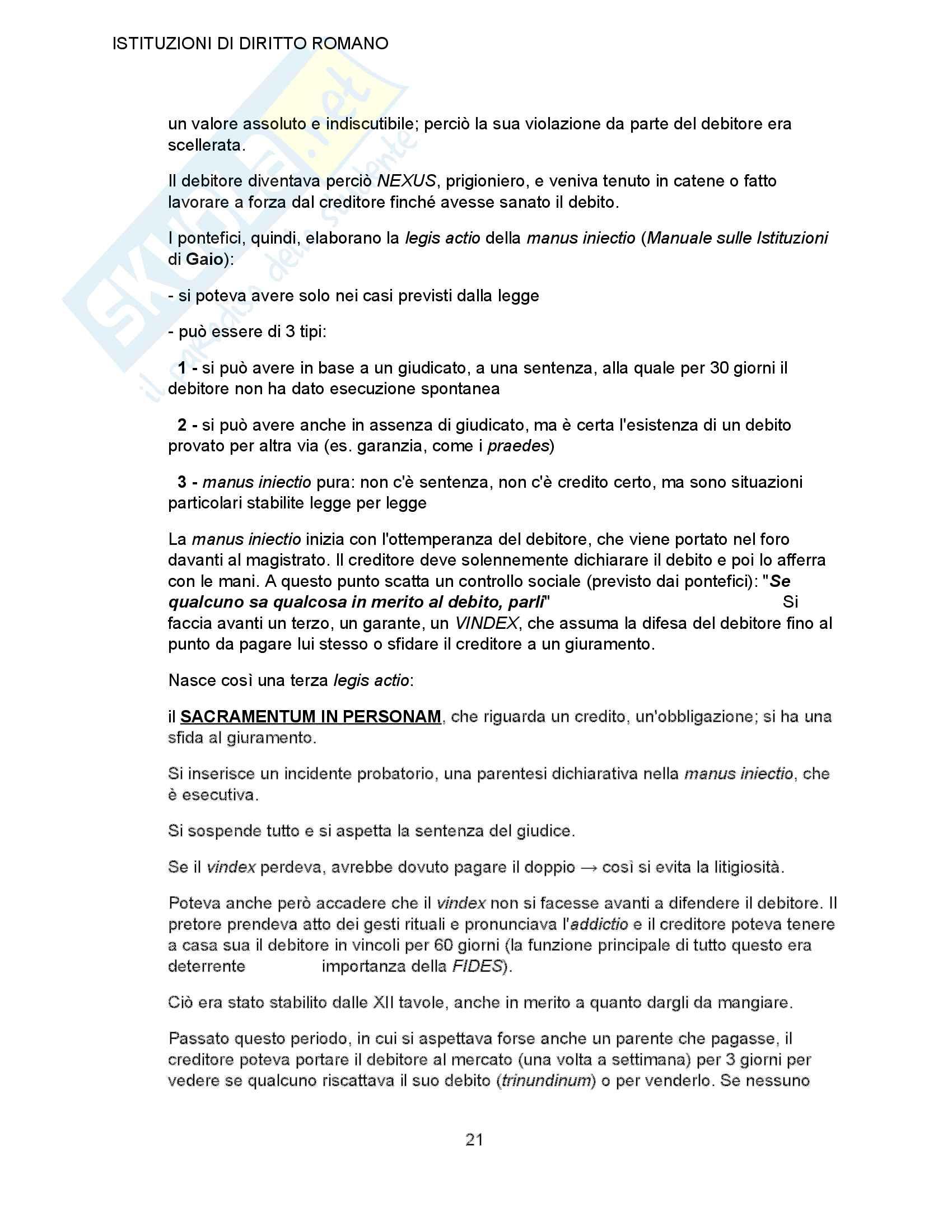 Riassunto esame istituzioni di diritto romano, prof. Bellodi Ansaloni, libro consigliato Istituzioni di diritto romano Pag. 21
