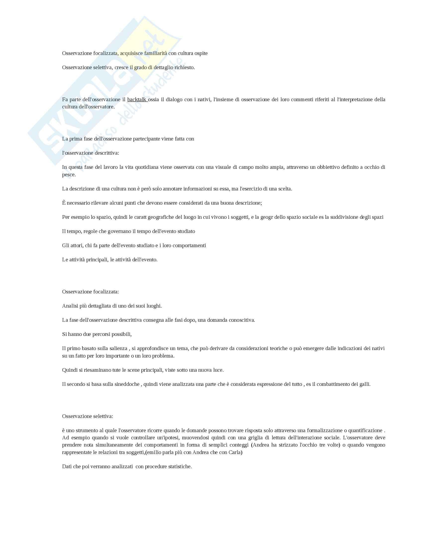 Riassunto esame Metodologia, prof. Bove, libro consigliato Tecniche di ricerca qualitativa, Cardano Pag. 11