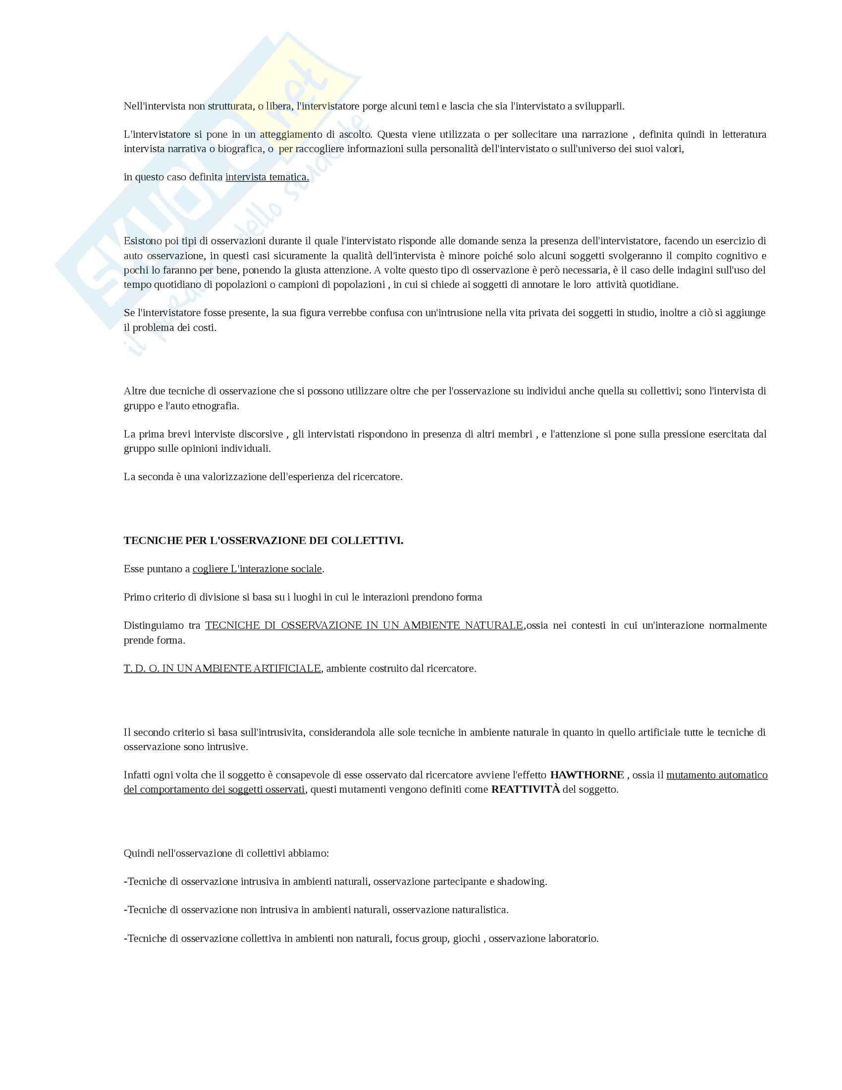 Riassunto esame Metodologia, prof. Bove, libro consigliato Tecniche di ricerca qualitativa, Cardano Pag. 6