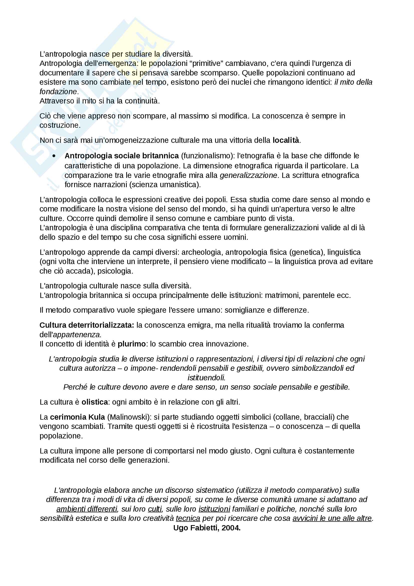 Antropologia culturale Pag. 2
