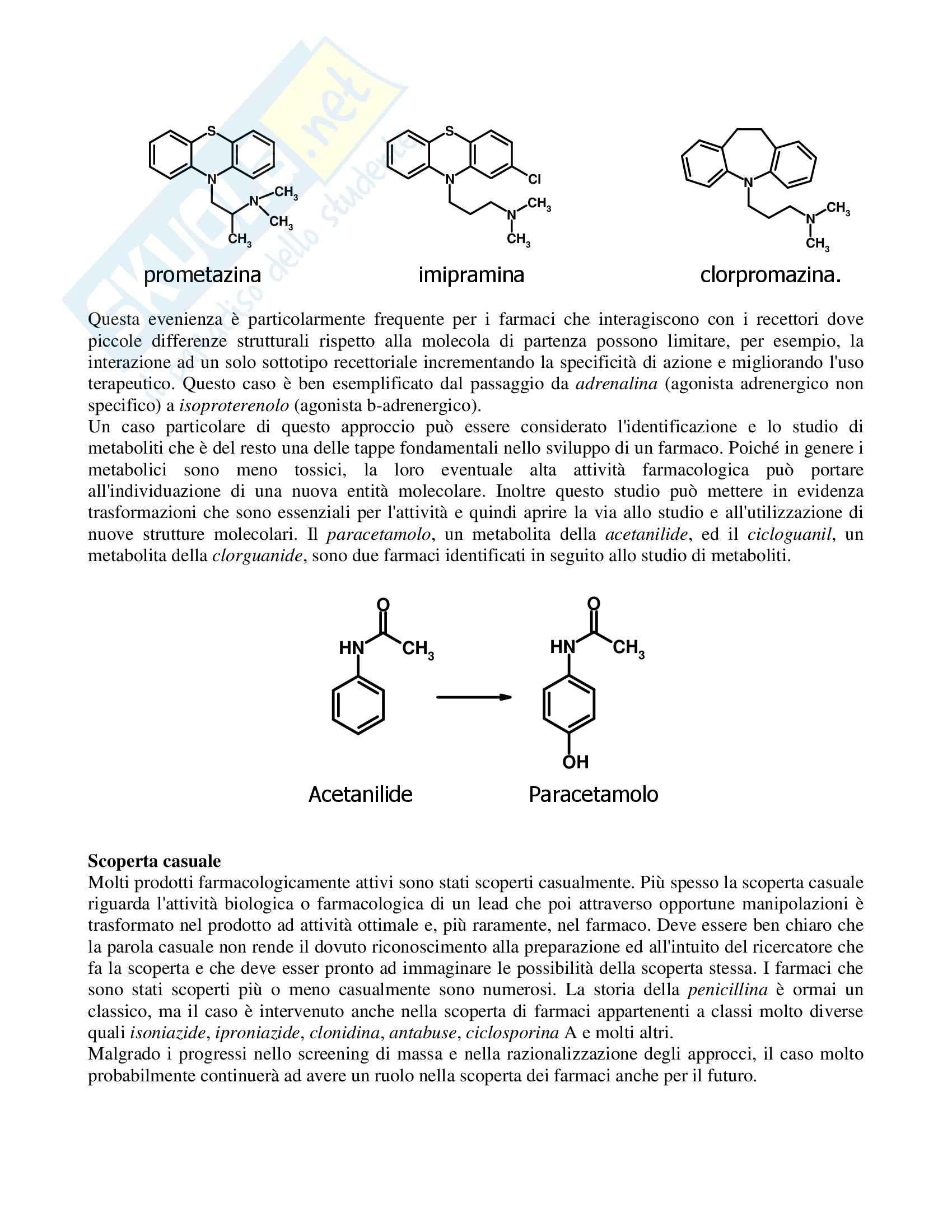 Chimica farmaceutica - progettazione lead ed eventuali Pag. 2