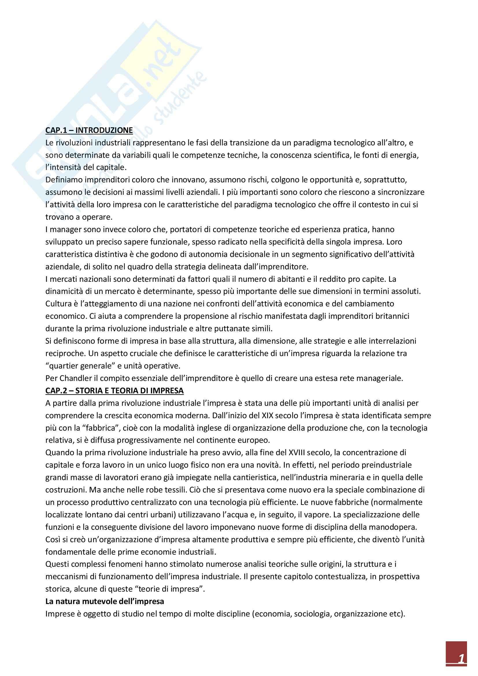 Riassunto esame Business History, prof. Amatori, libro consigliato Storia d'Impresa, Complessità e Comparazioni, Amatori, Colli
