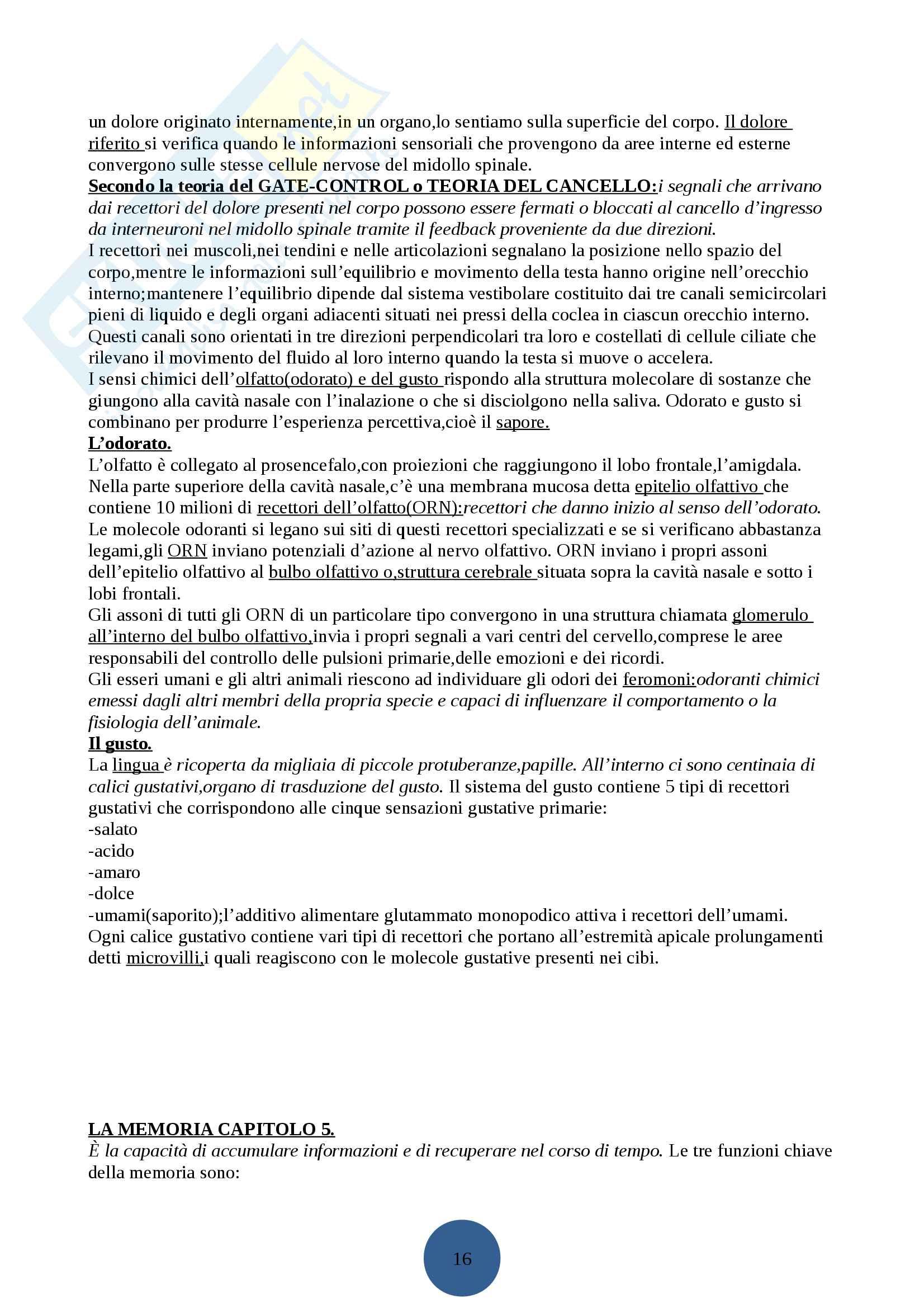 Psicologia generale I Pag. 16