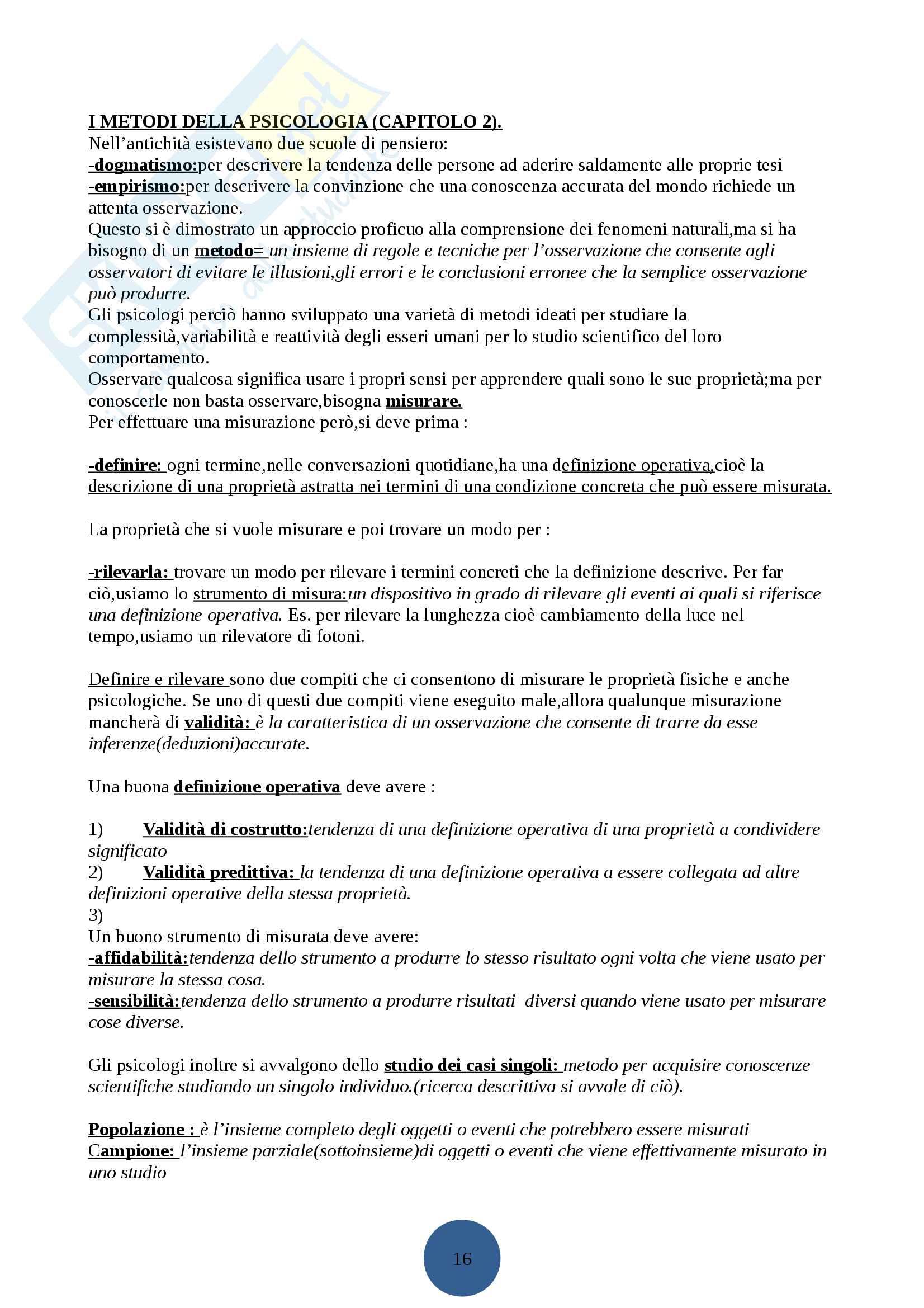 Psicologia generale I Pag. 2