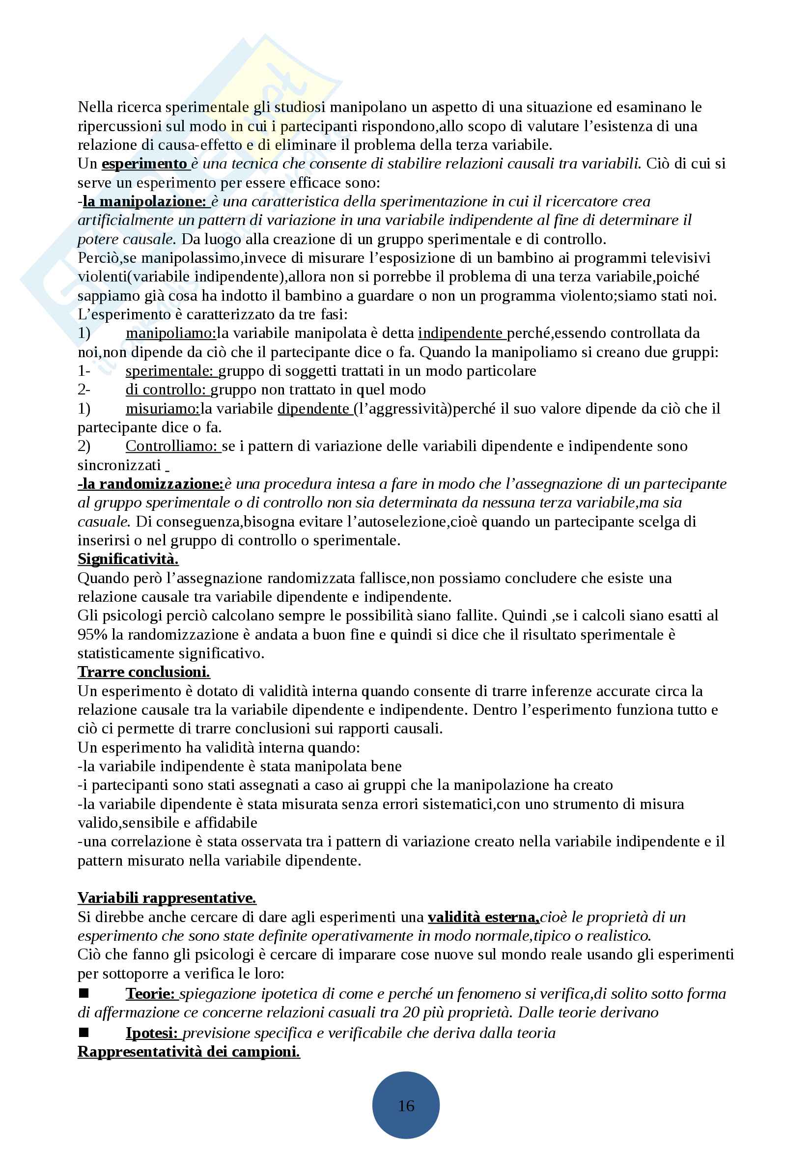 Psicologia generale I Pag. 6