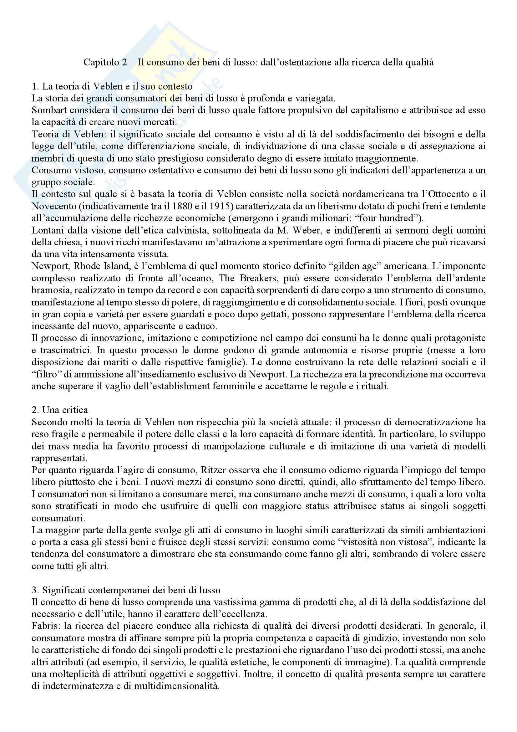 Riassunto esame Sociologia della globalizzazione, docente Rampazi, libro consigliato I volti del consumo, Sertorio, Martinengo Pag. 2