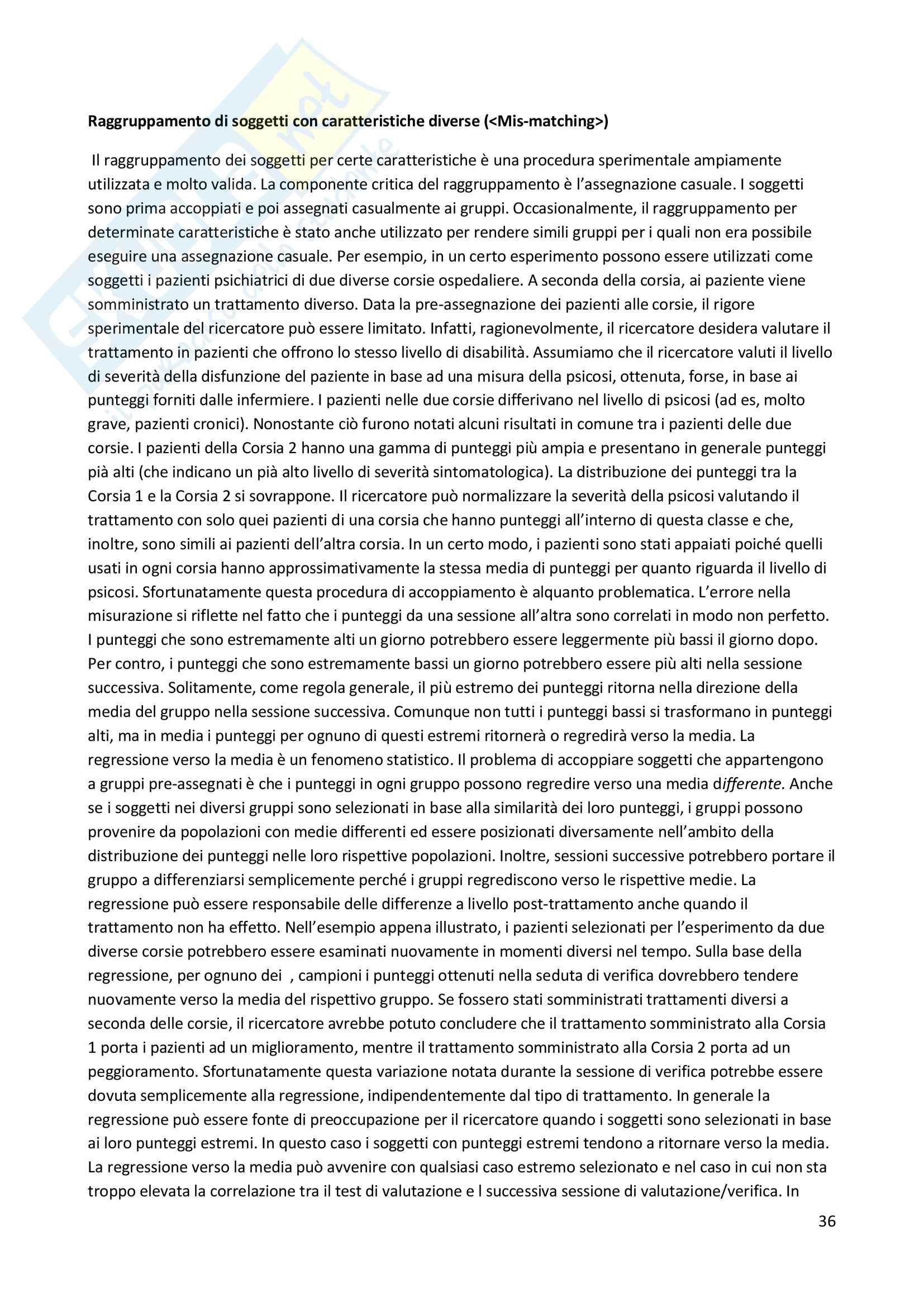 Riassunto esame Metodologia della ricerca in Psicologia Clinica, prof. Lo Coco, libro consigliato Metodi di ricerca in psicologia clinica, Alan E. Kazdin Pag. 36