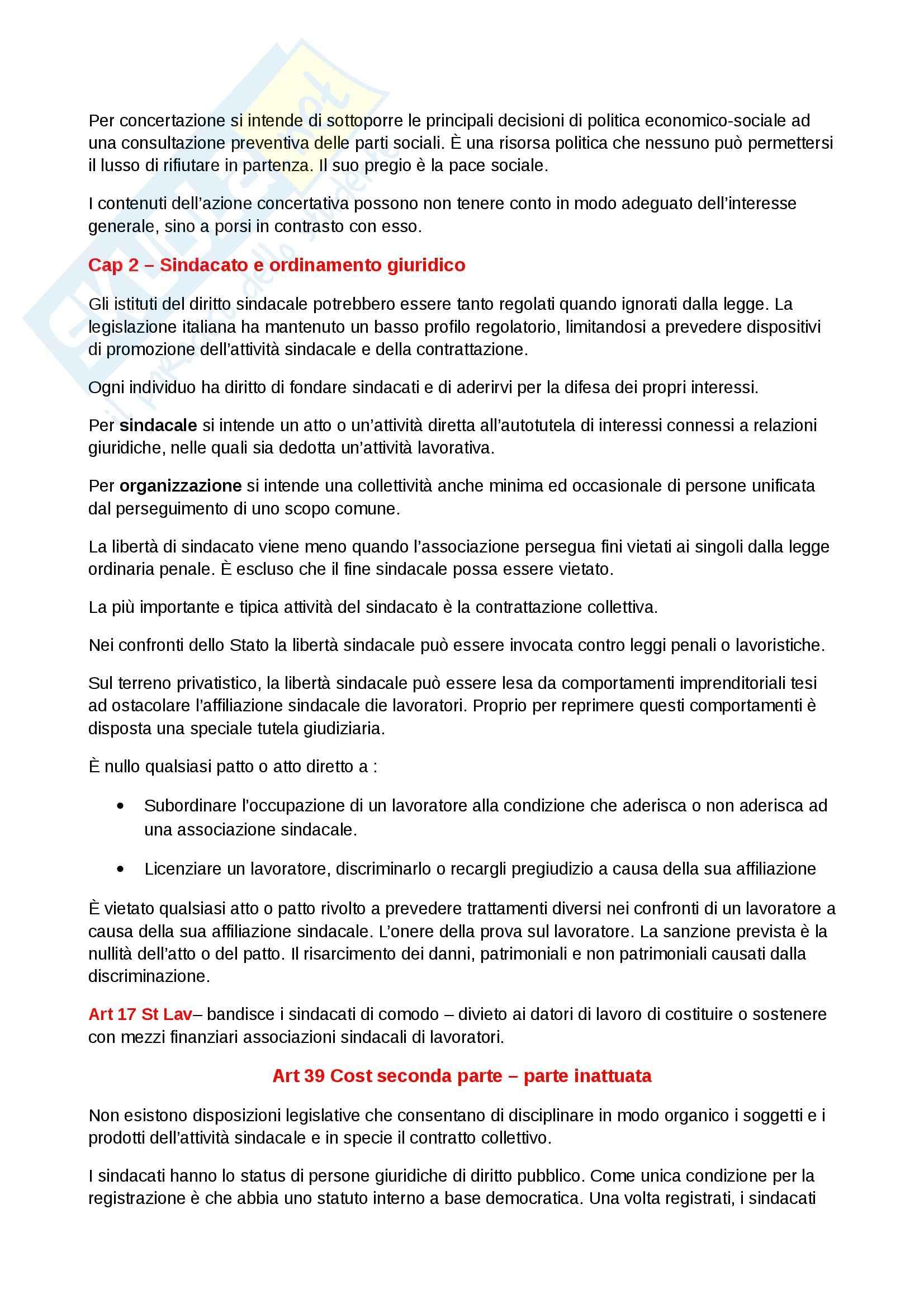 Riassunto esame Diritto del lavoro, prof. Scarpelli, libro consigliato Diritto del Lavoro, Del Punta Pag. 11