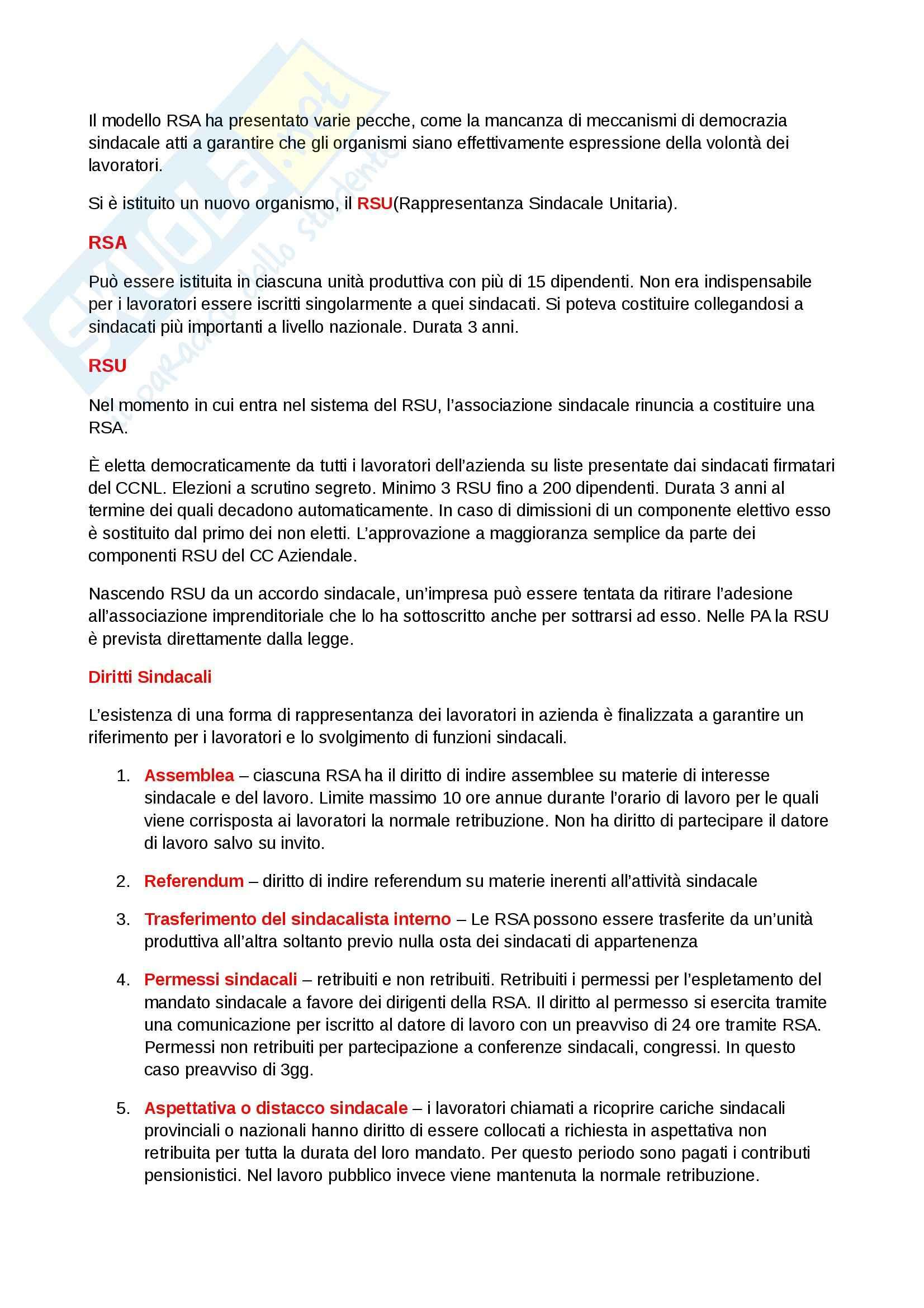 Riassunto esame Diritto del lavoro, prof. Scarpelli, libro consigliato Diritto del Lavoro, Del Punta Pag. 21