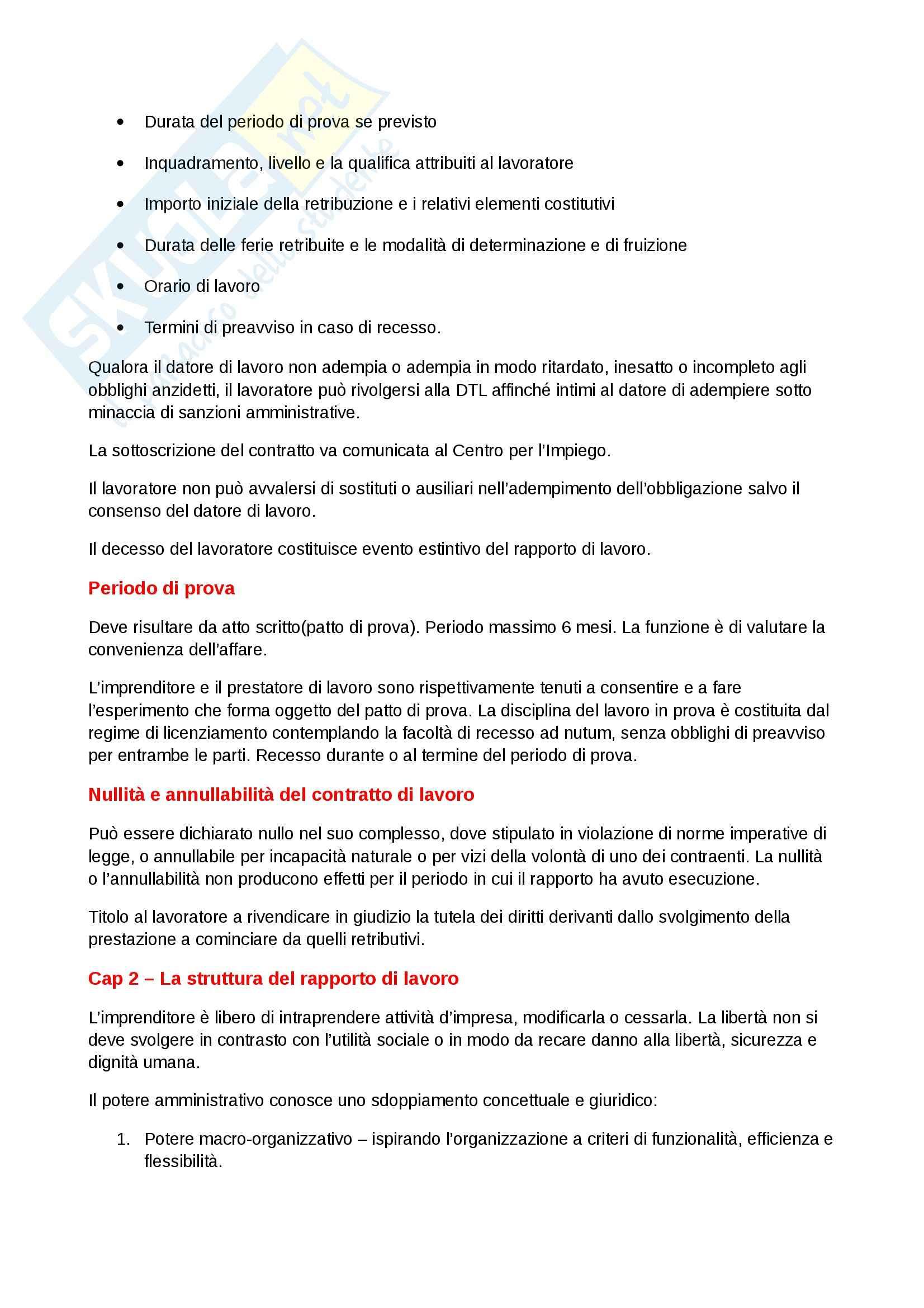 Riassunto esame Diritto del lavoro, prof. Scarpelli, libro consigliato Diritto del Lavoro, Del Punta Pag. 36