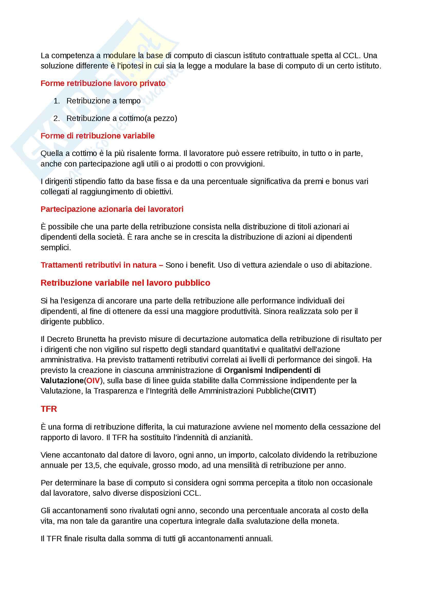 Riassunto esame Diritto del lavoro, prof. Scarpelli, libro consigliato Diritto del Lavoro, Del Punta Pag. 46