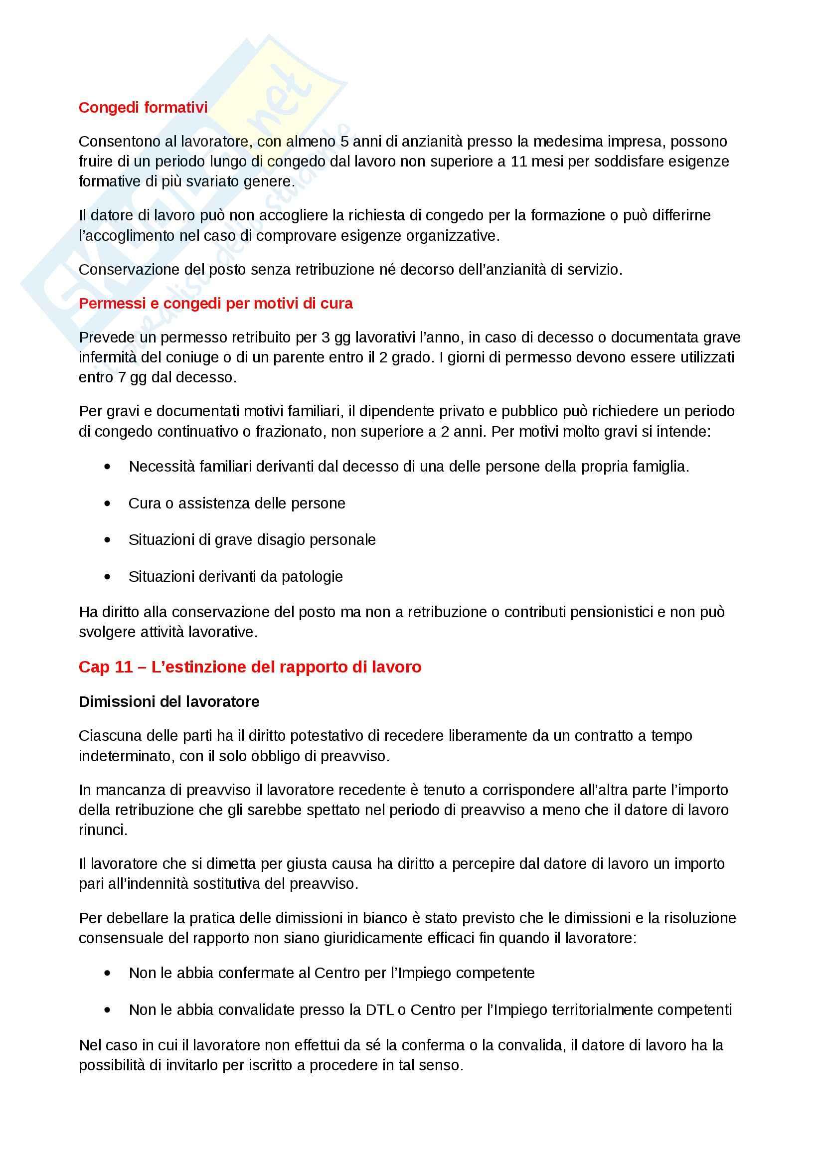 Riassunto esame Diritto del lavoro, prof. Scarpelli, libro consigliato Diritto del Lavoro, Del Punta Pag. 56