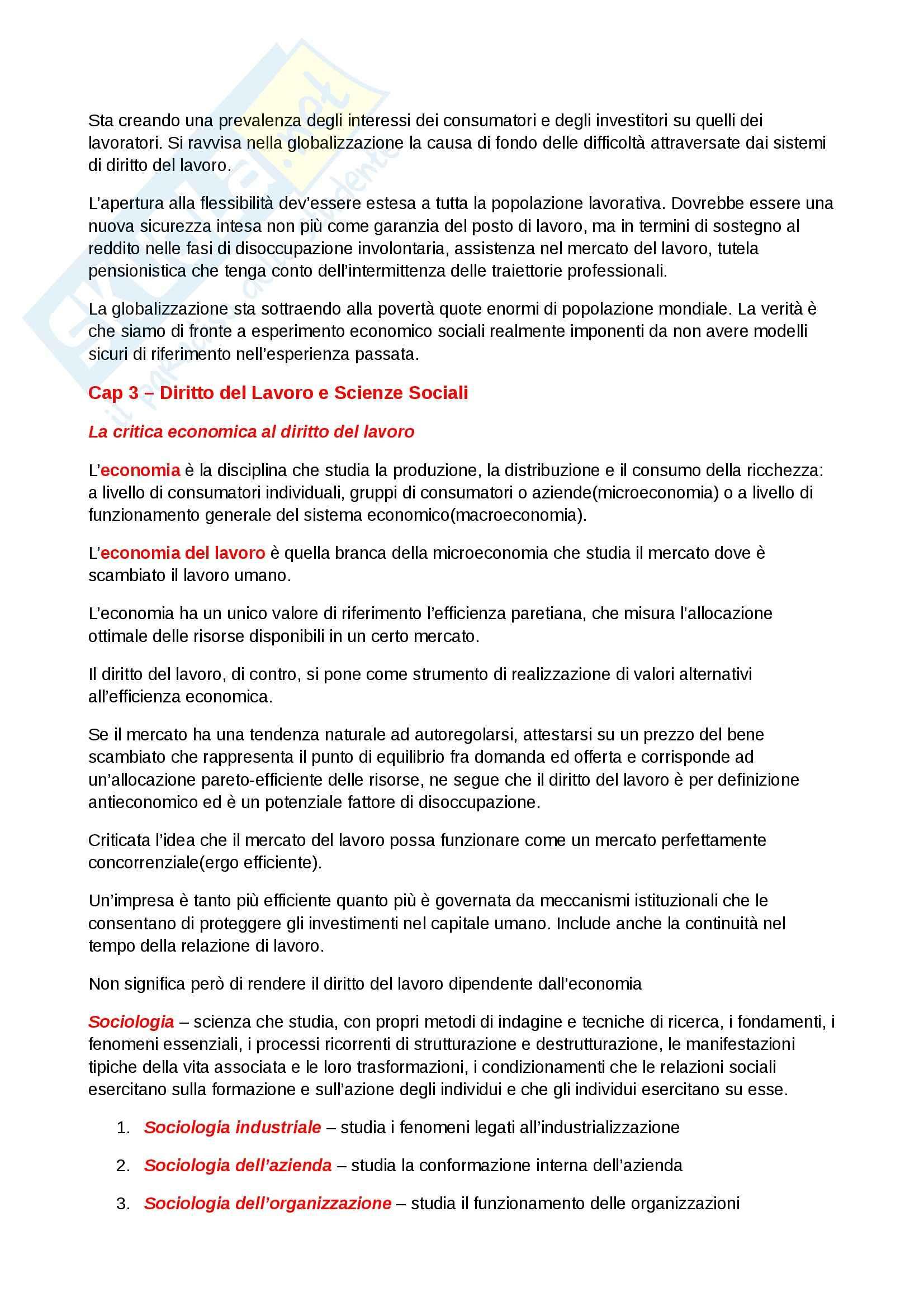 Riassunto esame Diritto del lavoro, prof. Scarpelli, libro consigliato Diritto del Lavoro, Del Punta Pag. 6