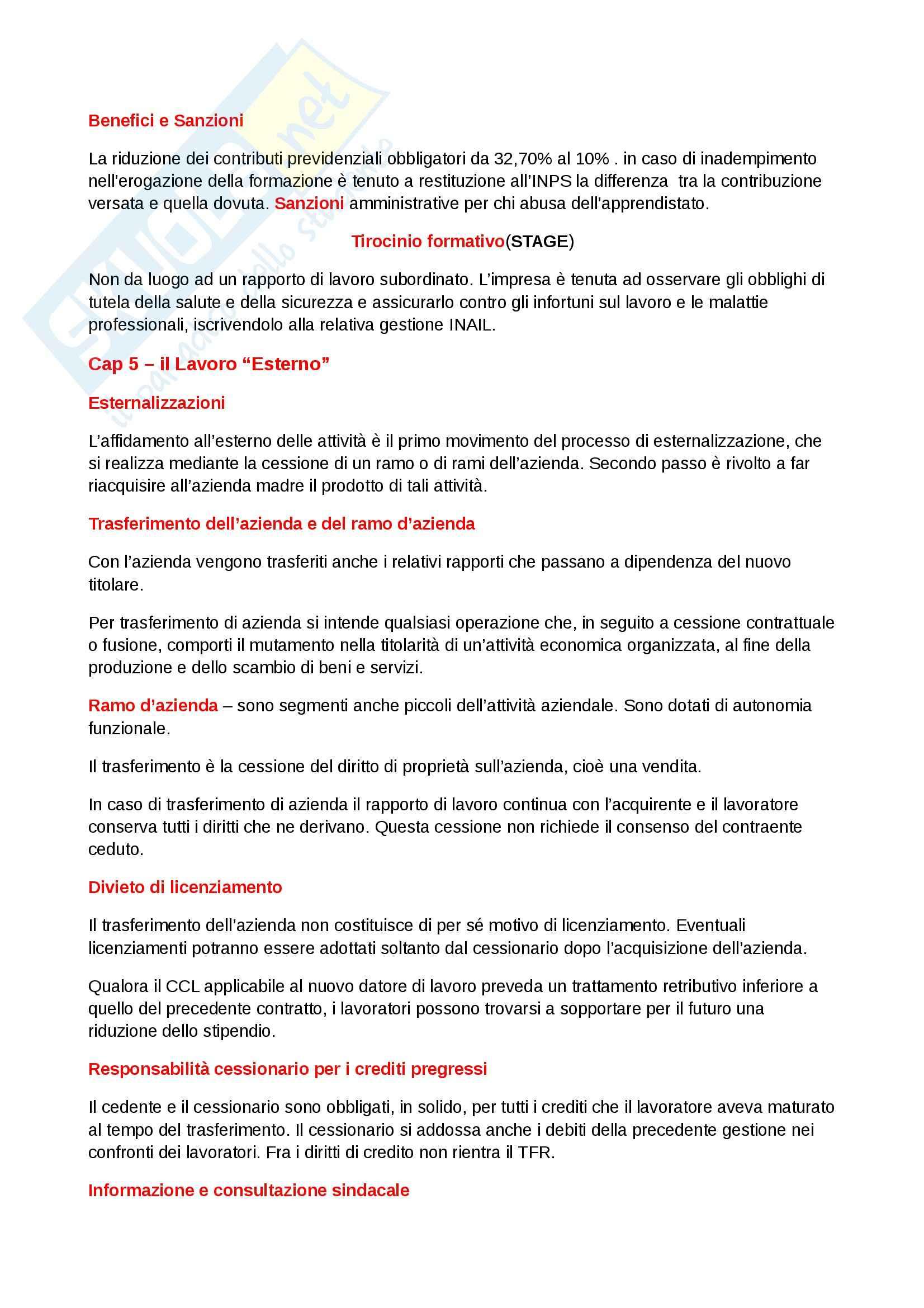 Riassunto esame Diritto del lavoro, prof. Scarpelli, libro consigliato Diritto del Lavoro, Del Punta Pag. 71