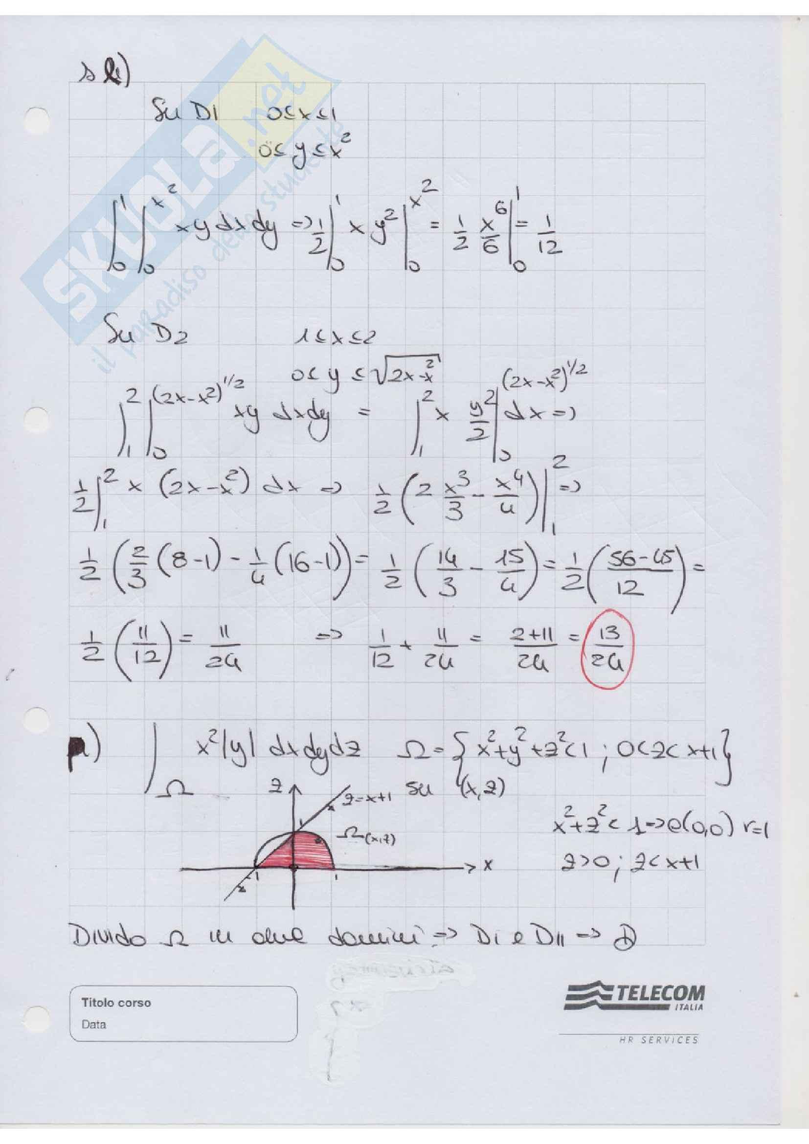 Esercizi, Analisi matematica 2 Pag. 96
