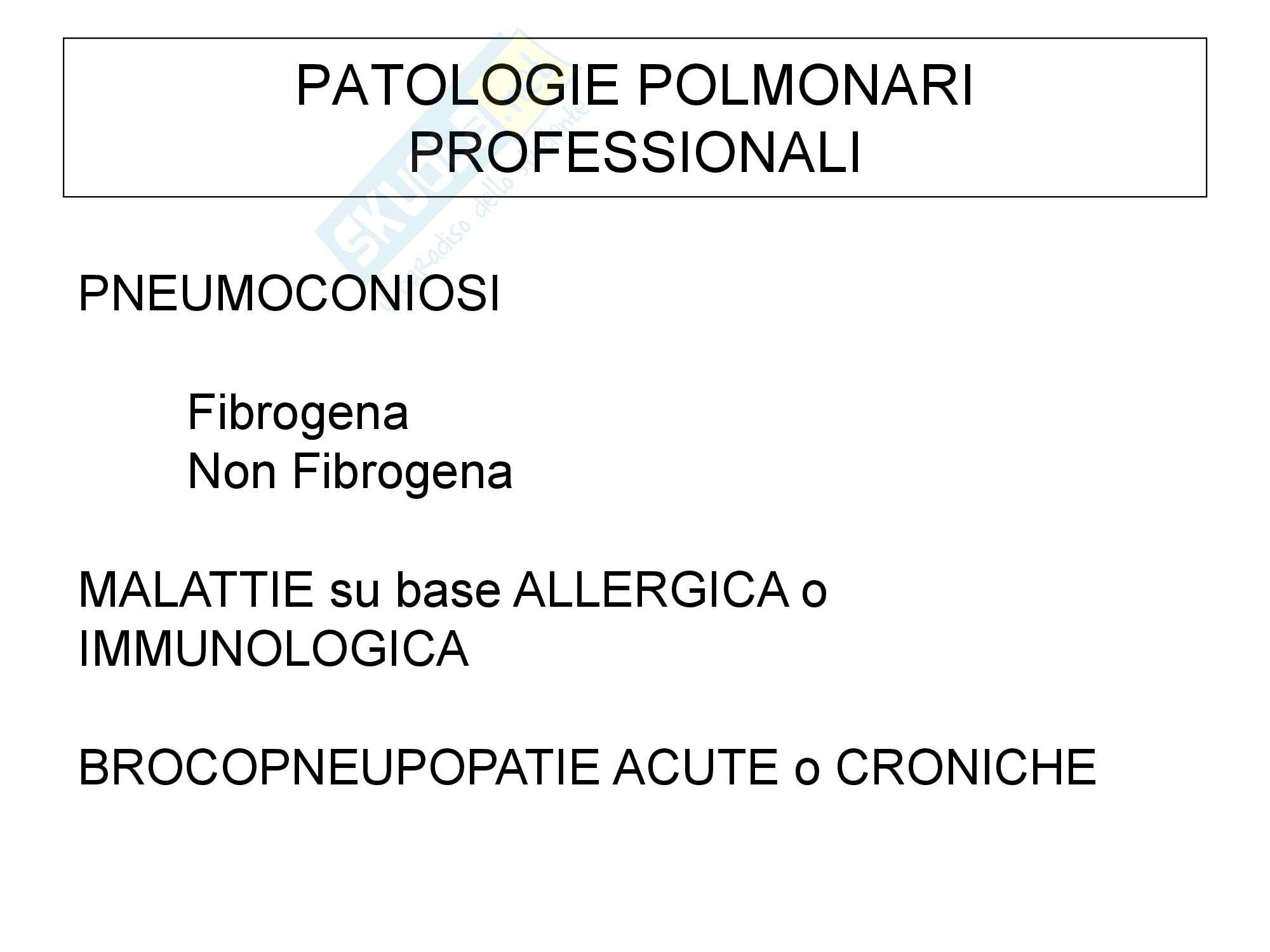 Patologie polmonari - Parte 2
