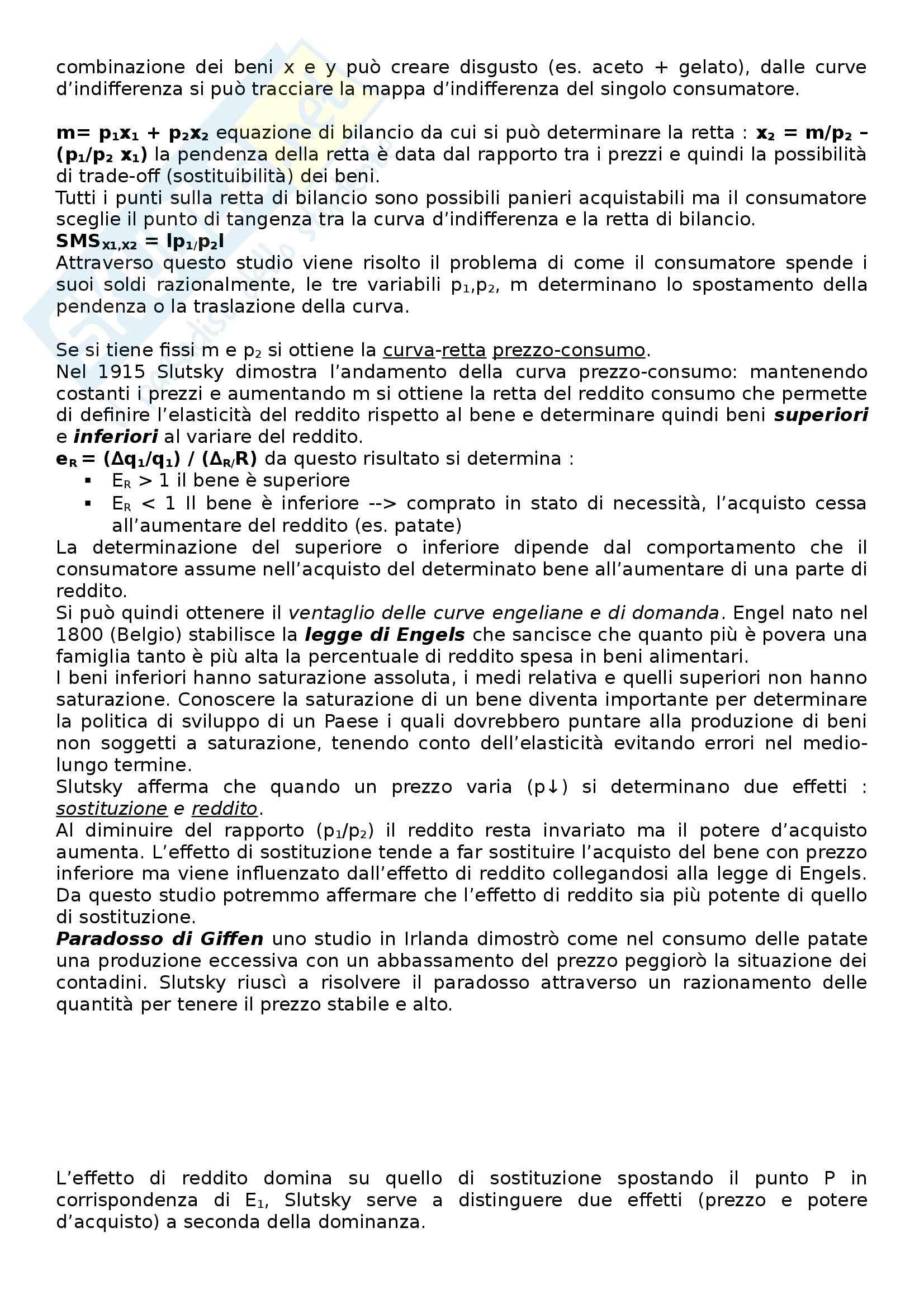 Microeconomia - Appunti Pag. 6