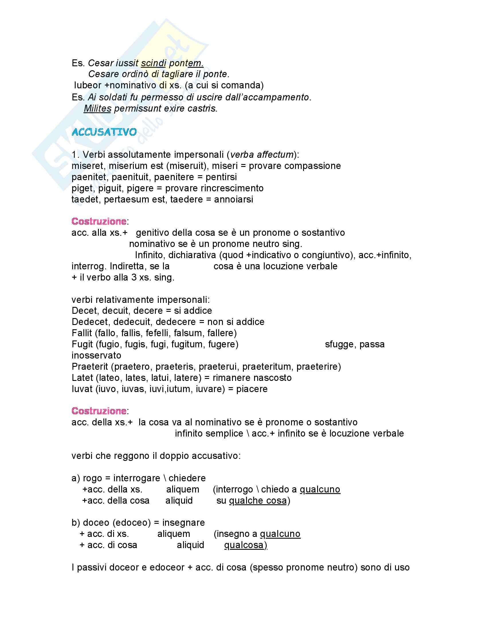 Latino - grammatica - Appunti Pag. 2
