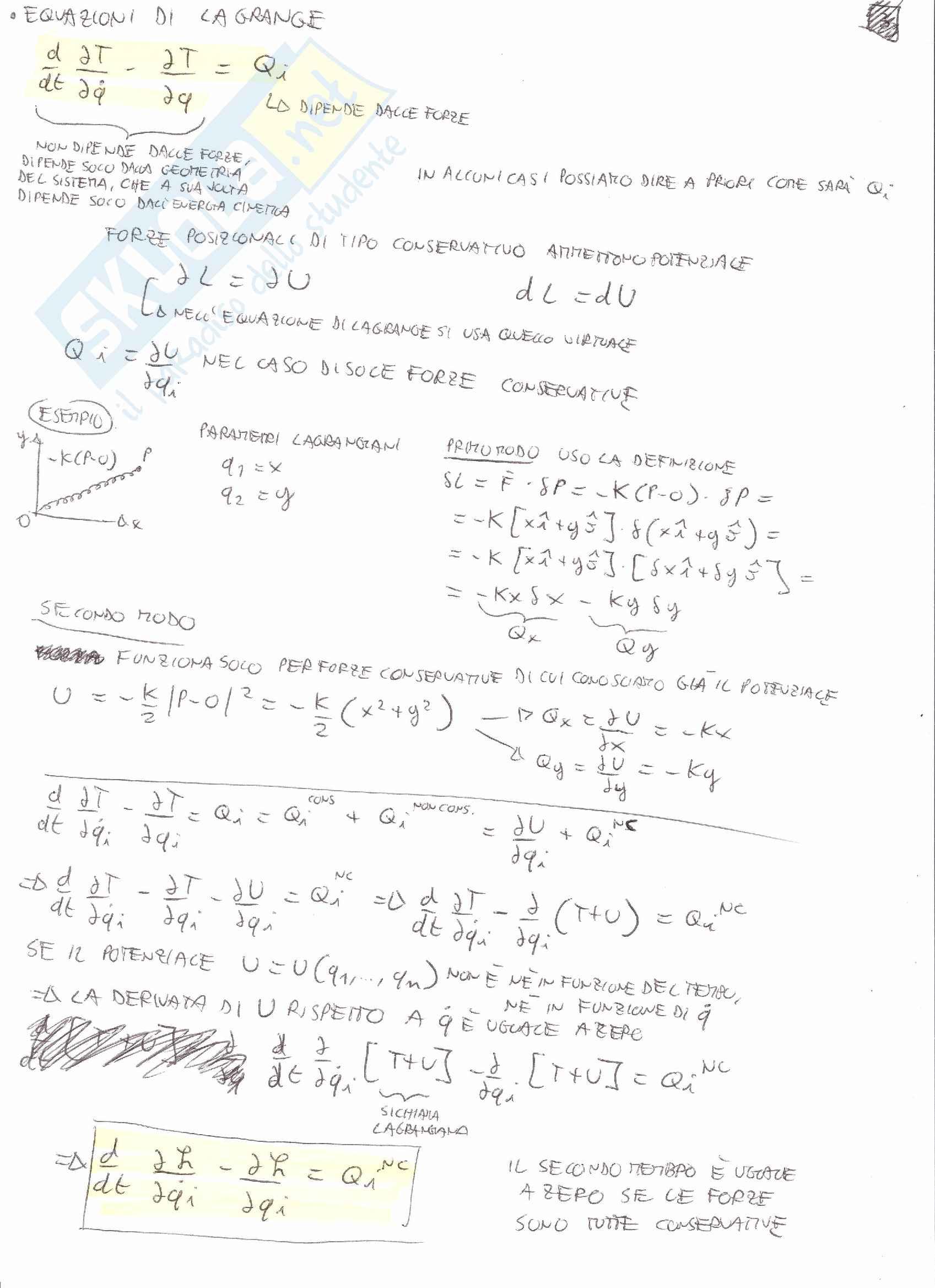 Meccanica Razionale T - Simulazione esame orali Pag. 6