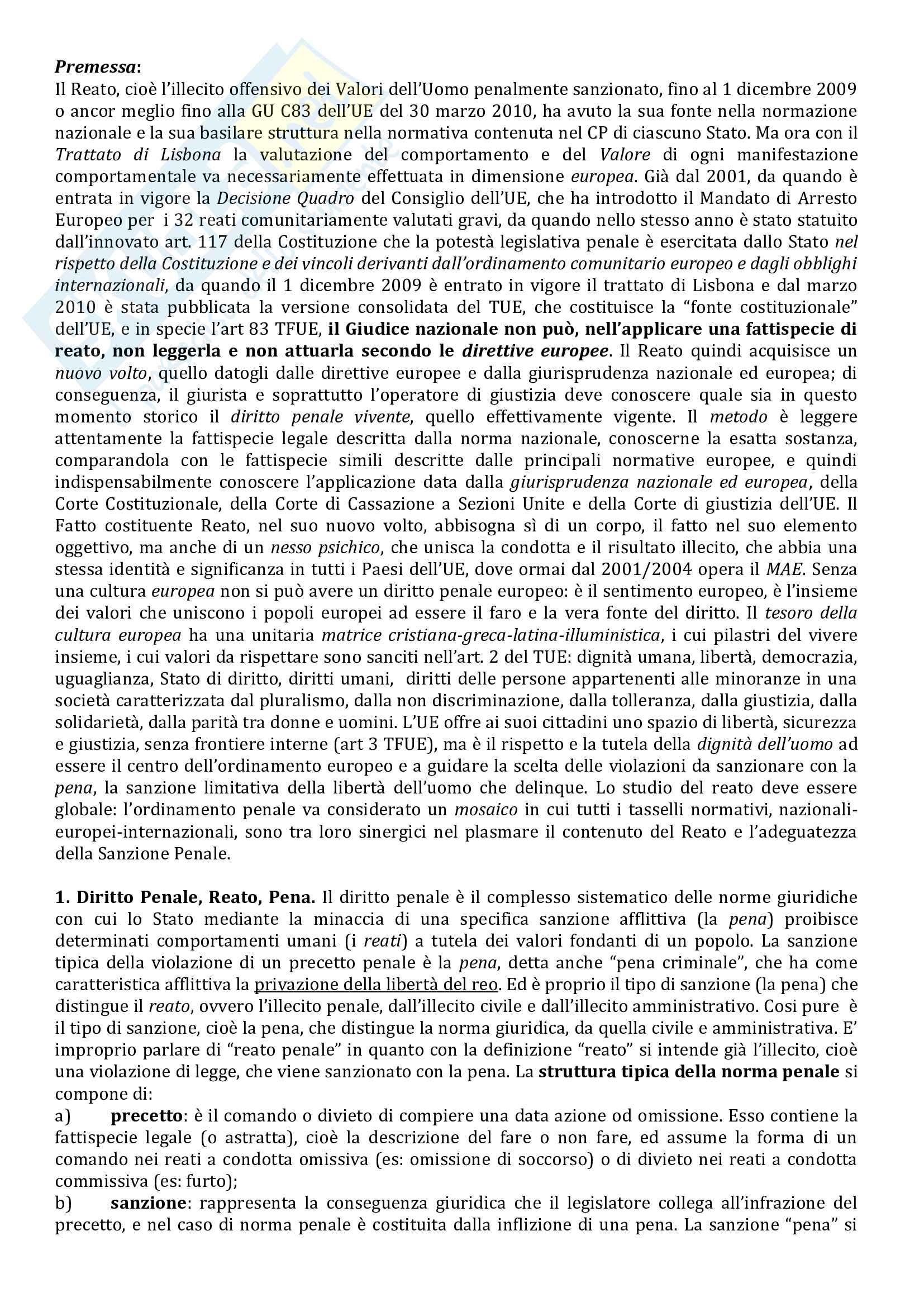 Riassunto esame Diritto penale, prof. Bartone, libro consigliato Il diritto penale odierno e concreto Pag. 2