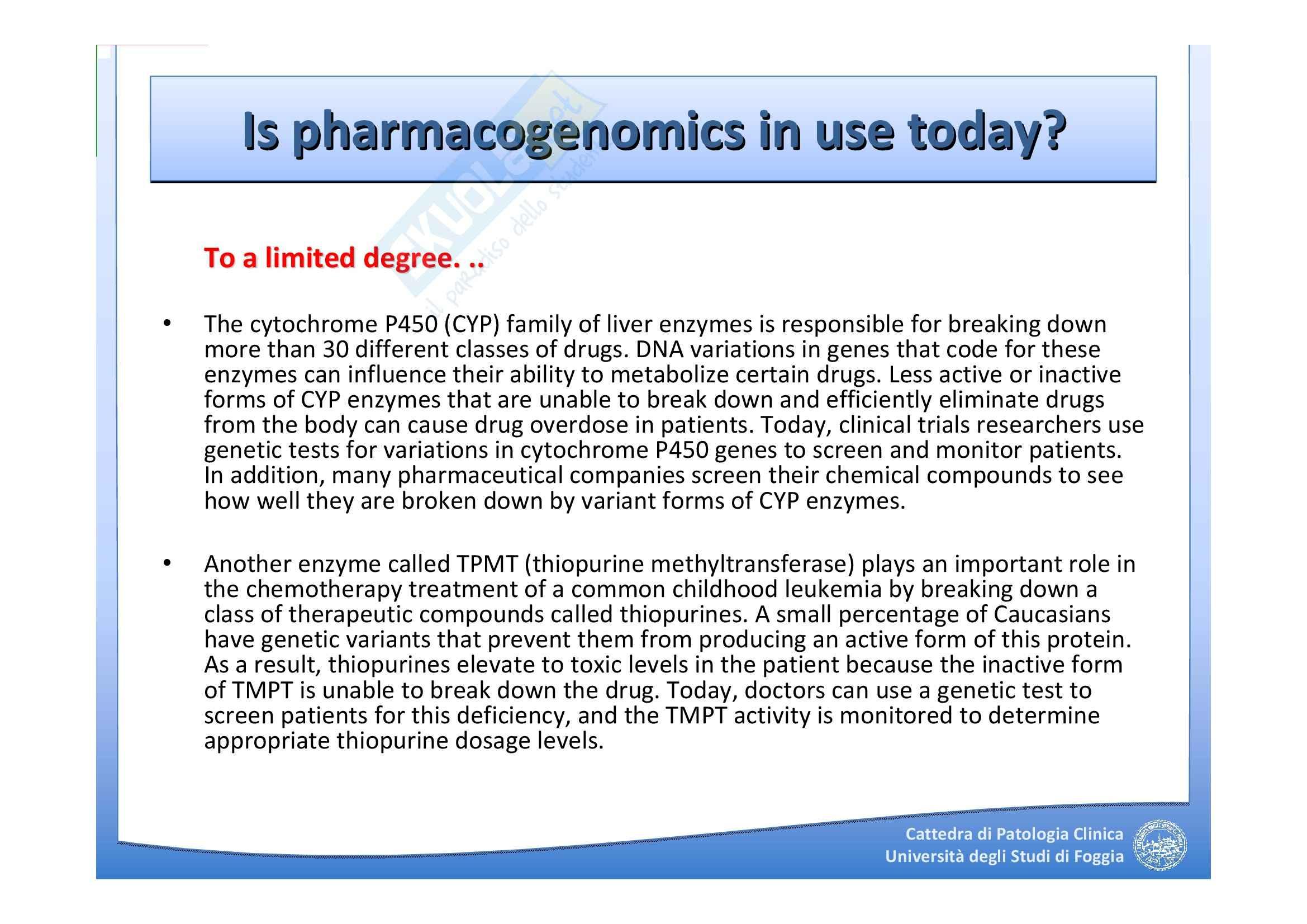 Farmacogenomica Pag. 66