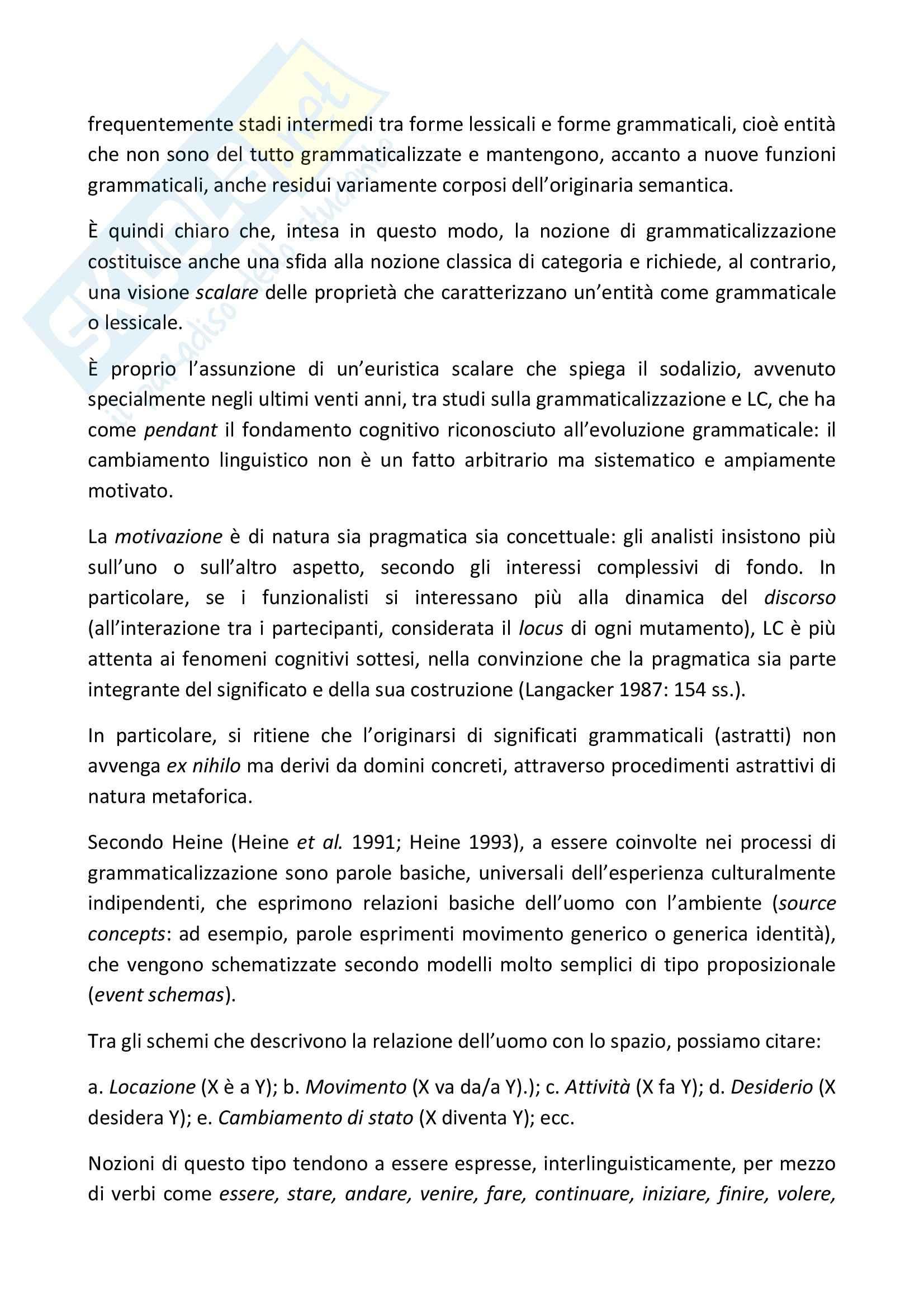 Linguistica - la grammaticalizzazione Pag. 2