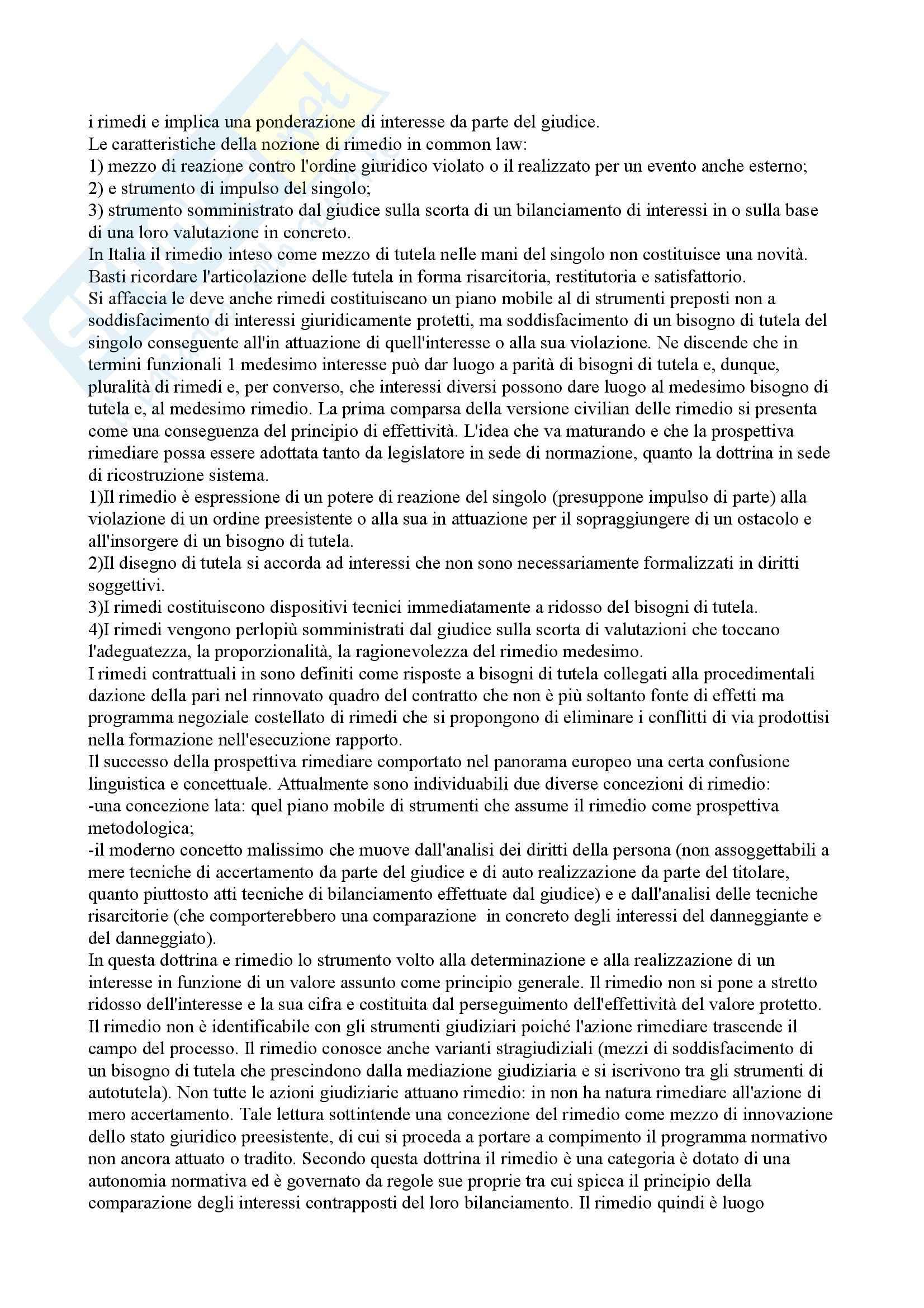 Riassunto esame Diritto Privato, prof. Mazzamuto, libro consigliato Manuale di Diritto Privato Europeo Pag. 11