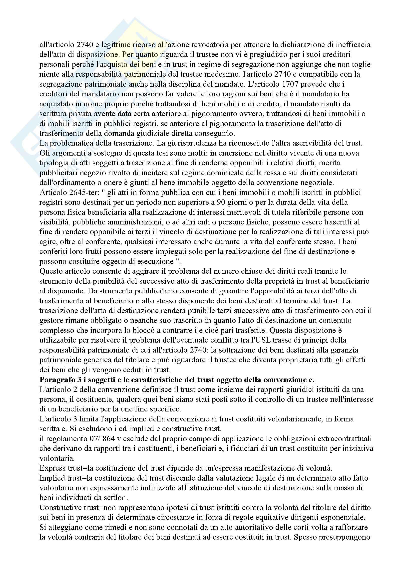 Riassunto esame Diritto Privato, prof. Mazzamuto, libro consigliato Manuale di Diritto Privato Europeo Pag. 6